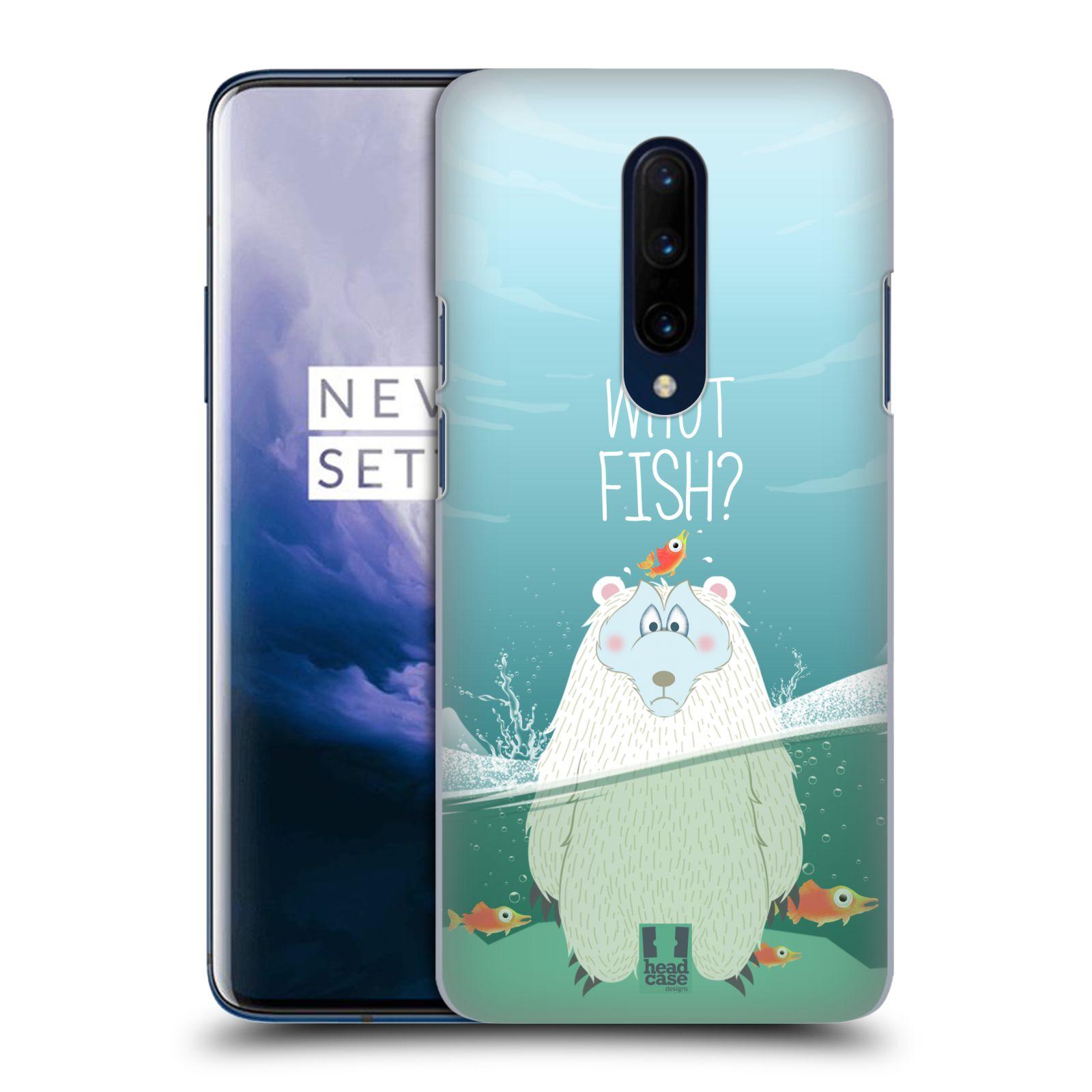 Plastové pouzdro na mobil OnePlus 7 Pro - Head Case - Medvěd Whut Fish?