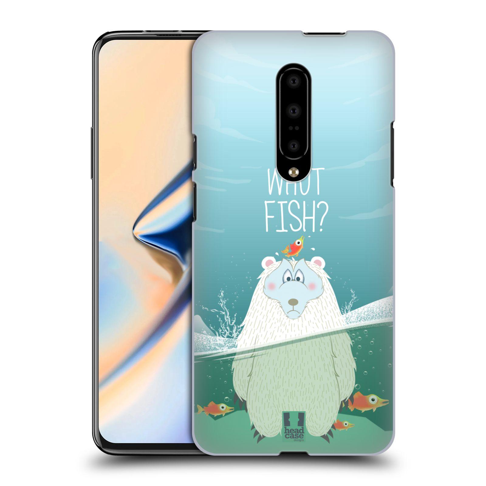 Plastové pouzdro na mobil OnePlus 7 - Head Case - Medvěd Whut Fish?