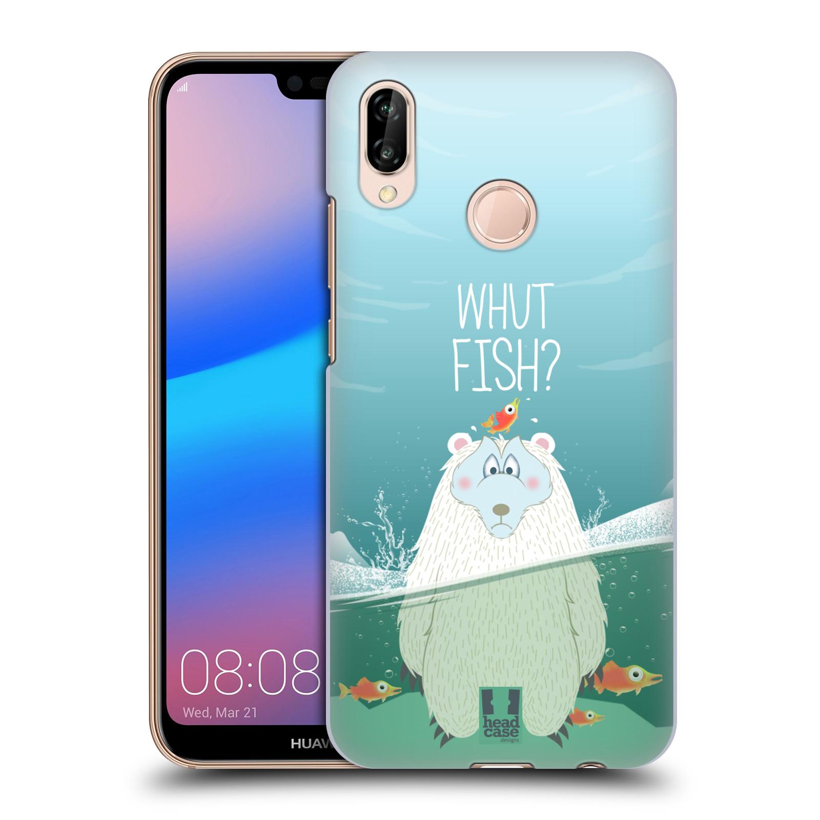 Plastové pouzdro na mobil Huawei P20 Lite - Head Case - Medvěd Whut Fish?