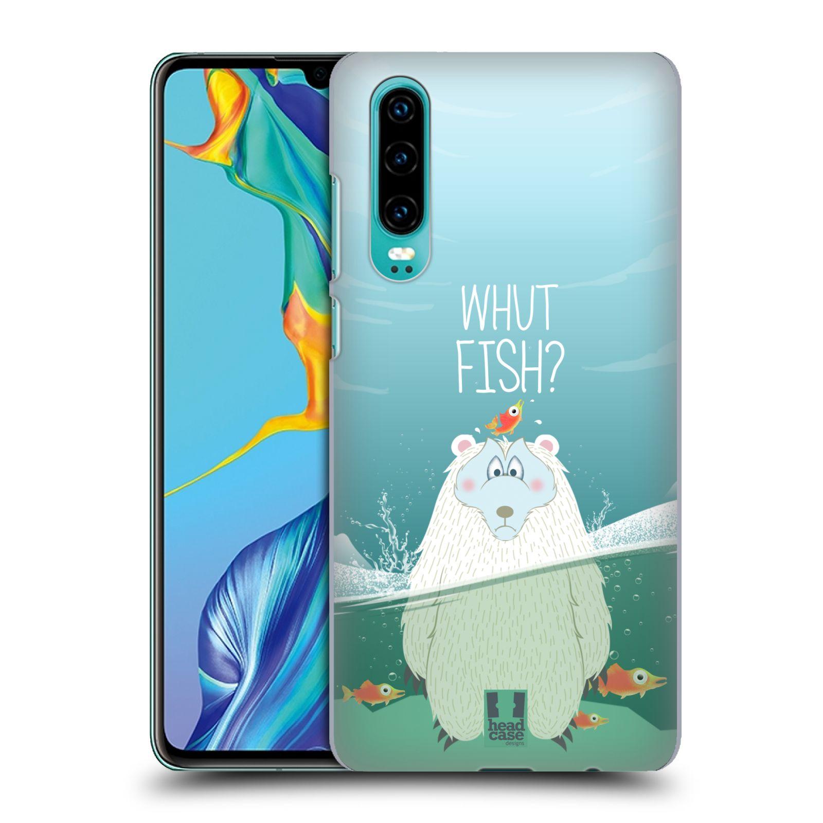 Plastové pouzdro na mobil Huawei P30 - Head Case - Medvěd Whut Fish?
