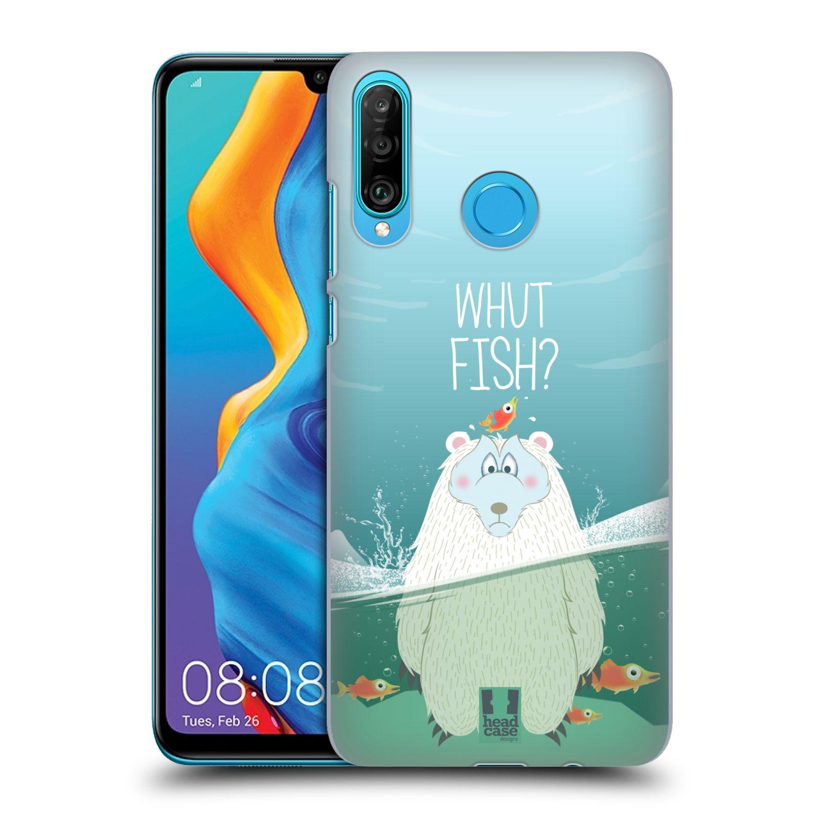 Plastové pouzdro na mobil Huawei P30 Lite - Head Case - Medvěd Whut Fish?