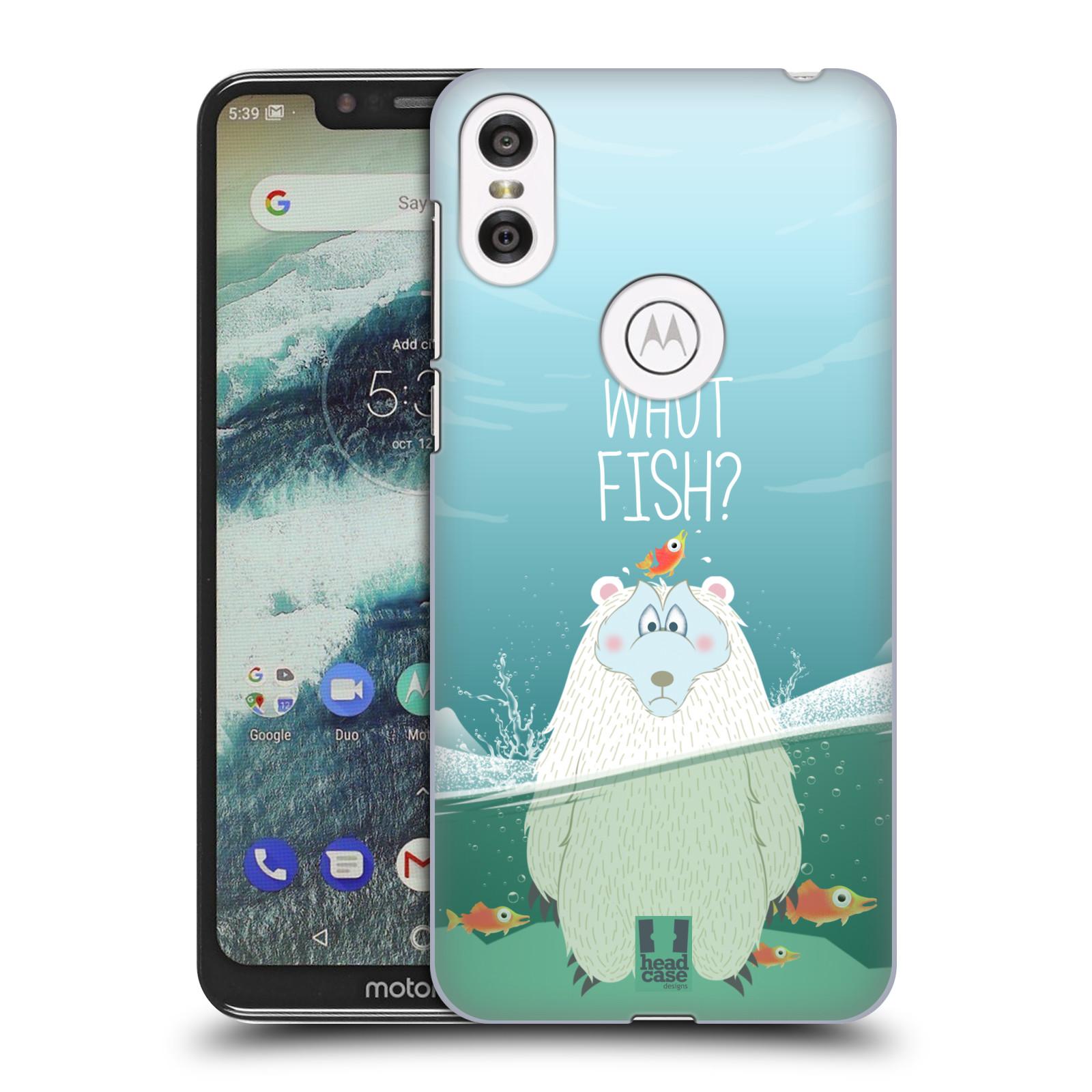 Plastové pouzdro na mobil Motorola One - Head Case - Medvěd Whut Fish?