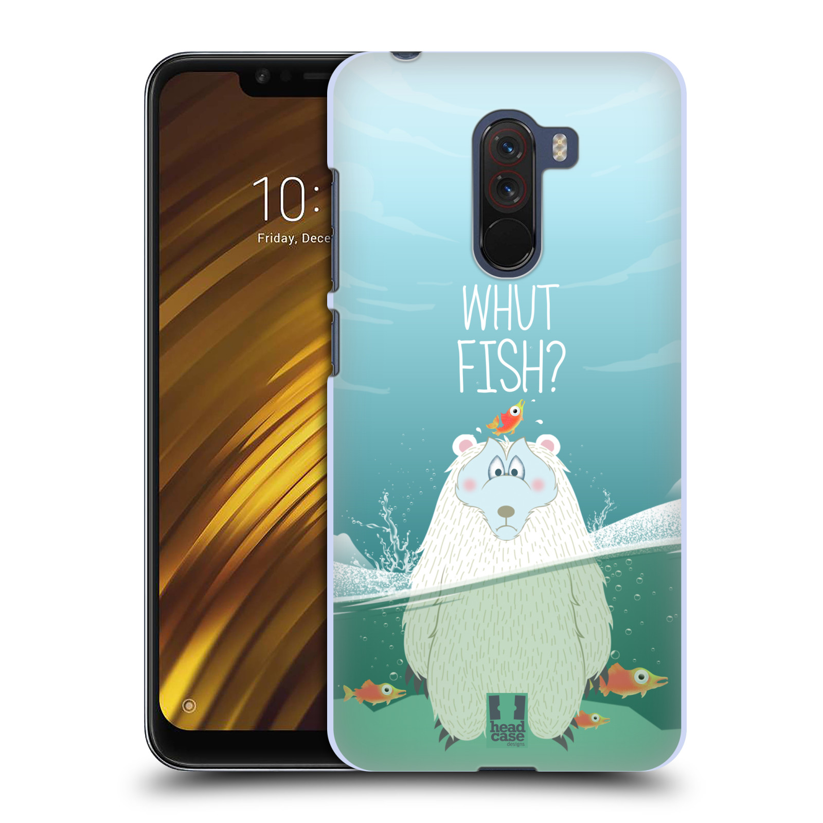 Plastové pouzdro na mobil Xiaomi Pocophone F1 - Head Case - Medvěd Whut Fish?