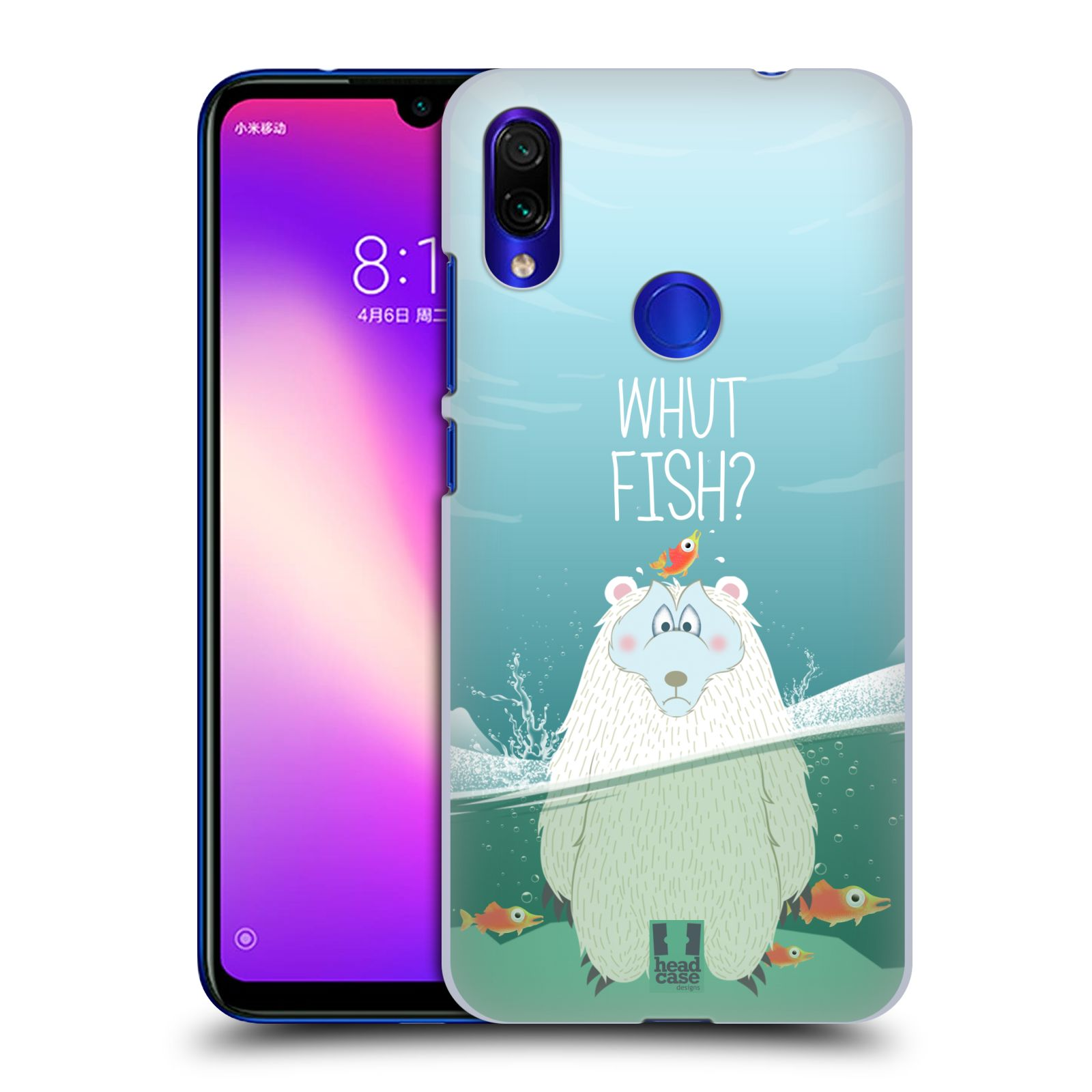 Plastové pouzdro na mobil Xiaomi Redmi Note 7 - Head Case - Medvěd Whut Fish?