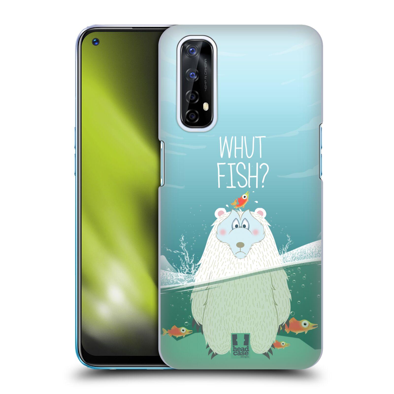 Plastové pouzdro na mobil Realme 7 - Head Case - Medvěd Whut Fish?