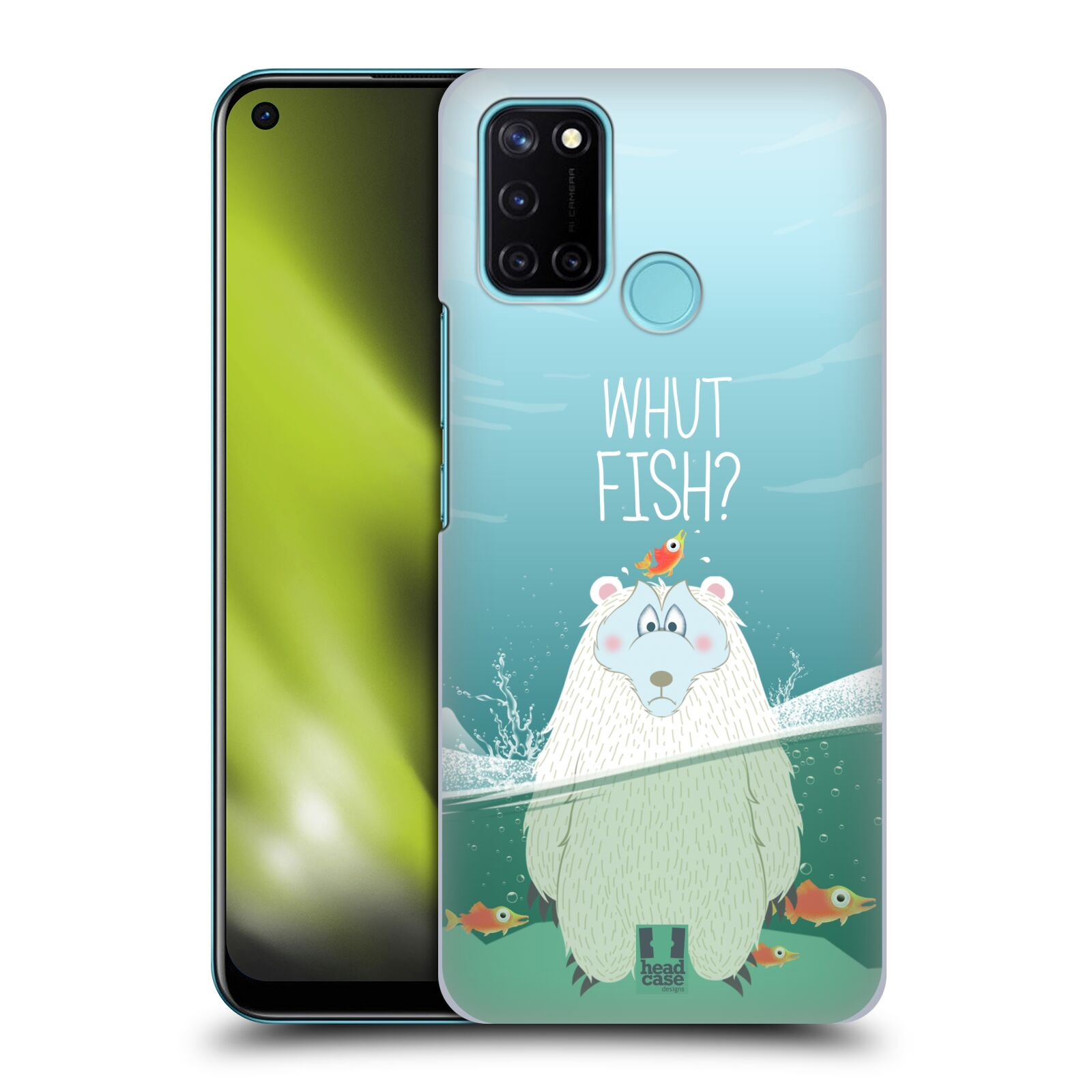 Plastové pouzdro na mobil Realme 7i - Head Case - Medvěd Whut Fish?