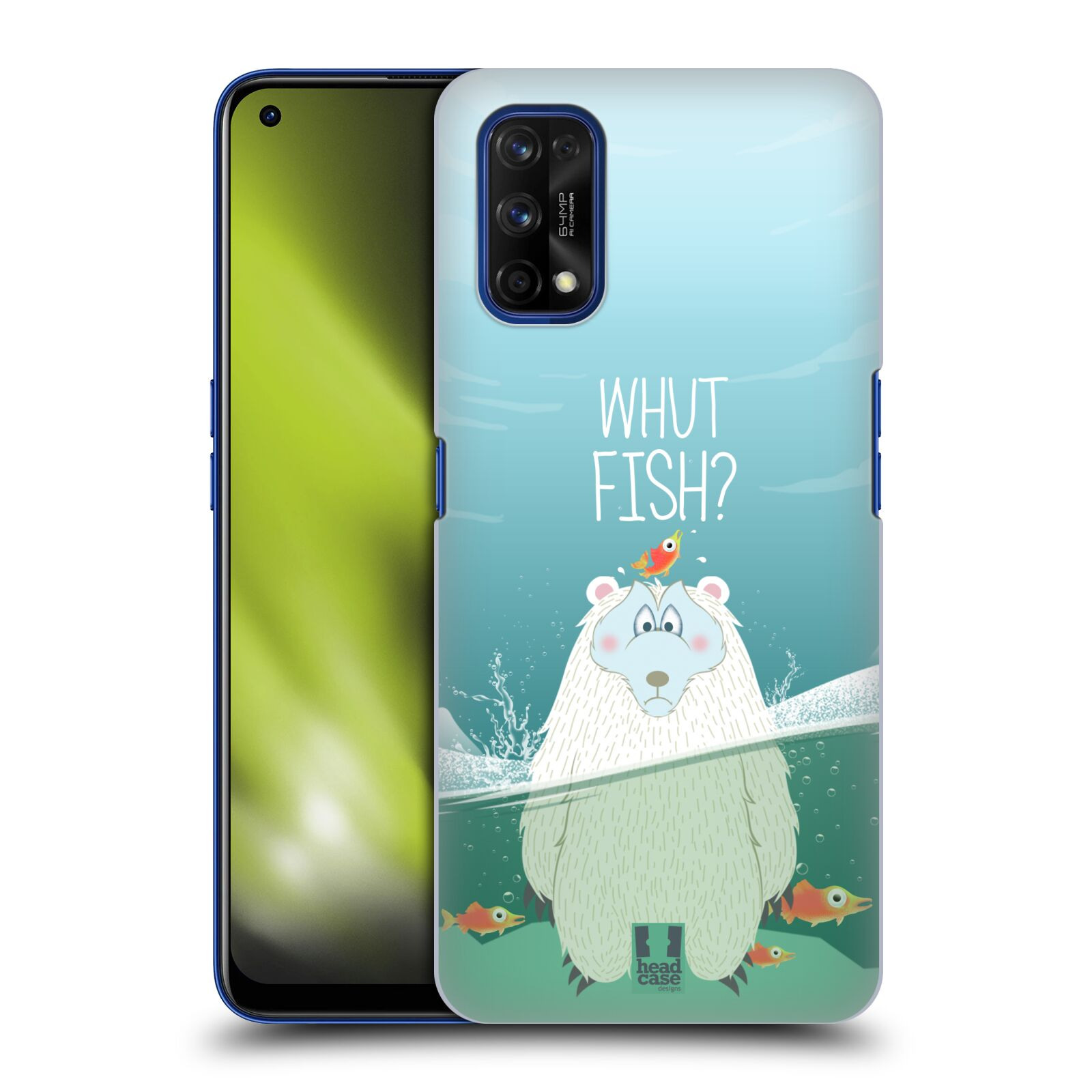 Plastové pouzdro na mobil Realme 7 Pro - Head Case - Medvěd Whut Fish?