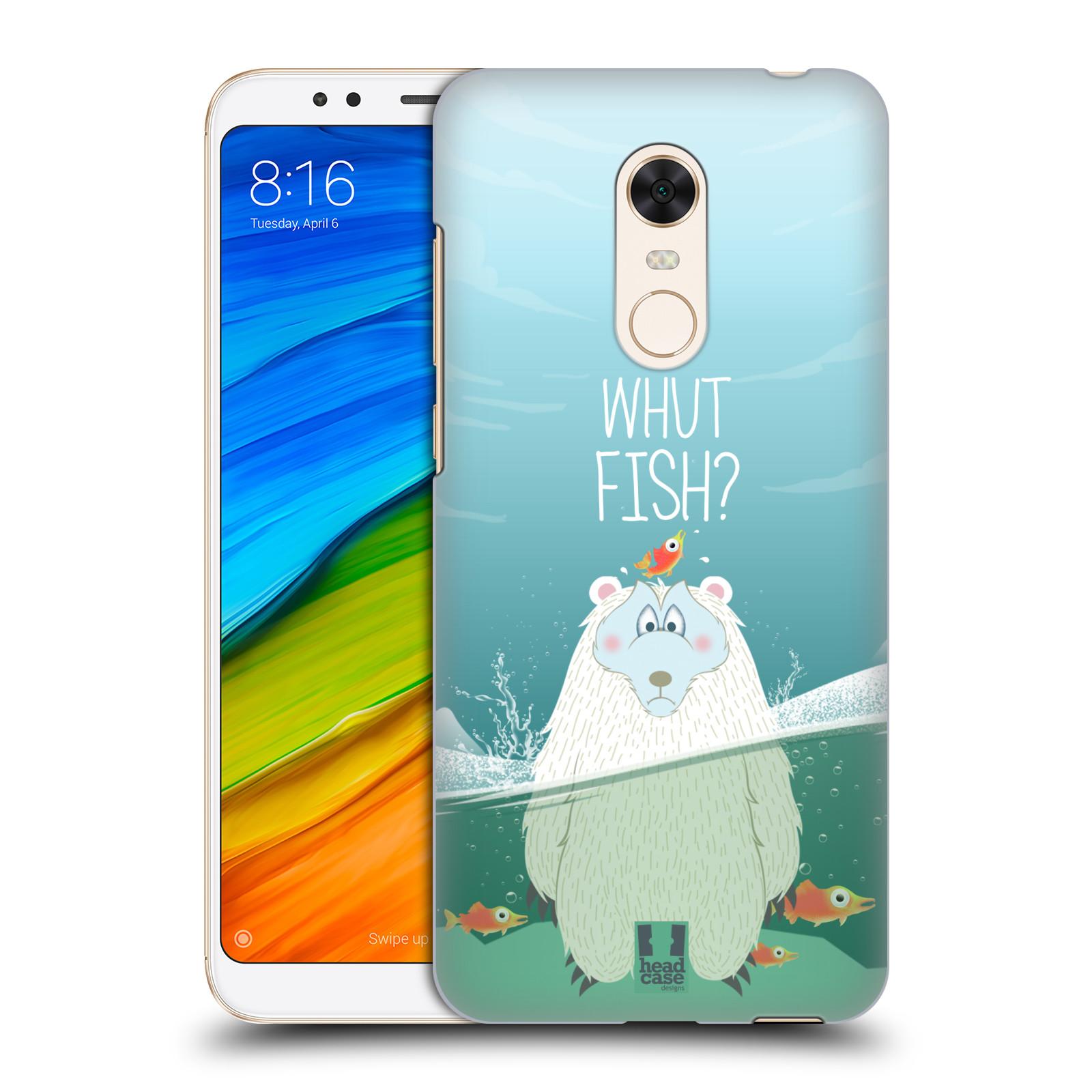 Plastové pouzdro na mobil Xiaomi Redmi 5 Plus - Head Case - Medvěd Whut Fish?