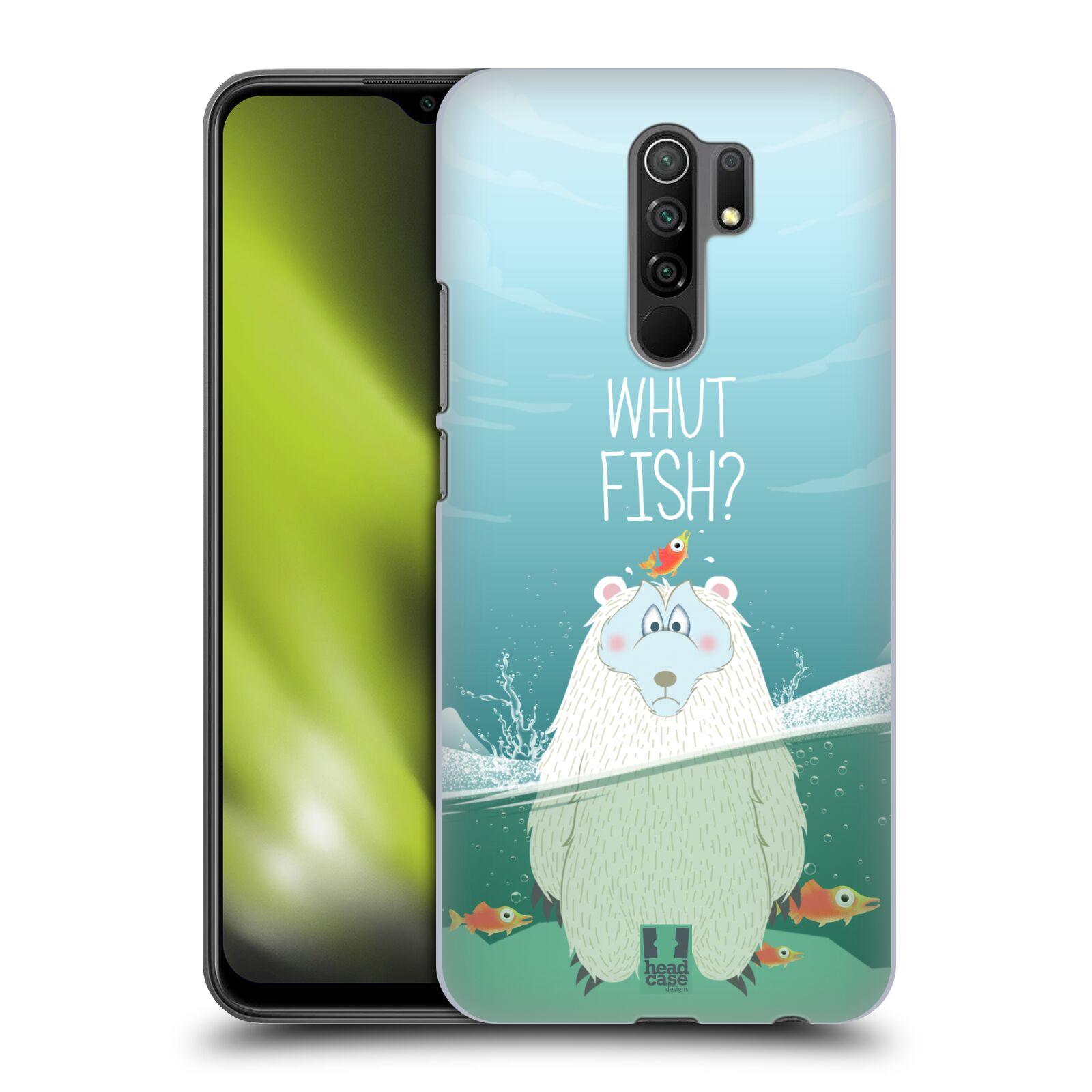 Plastové pouzdro na mobil Xiaomi Redmi 9 - Head Case - Medvěd Whut Fish?
