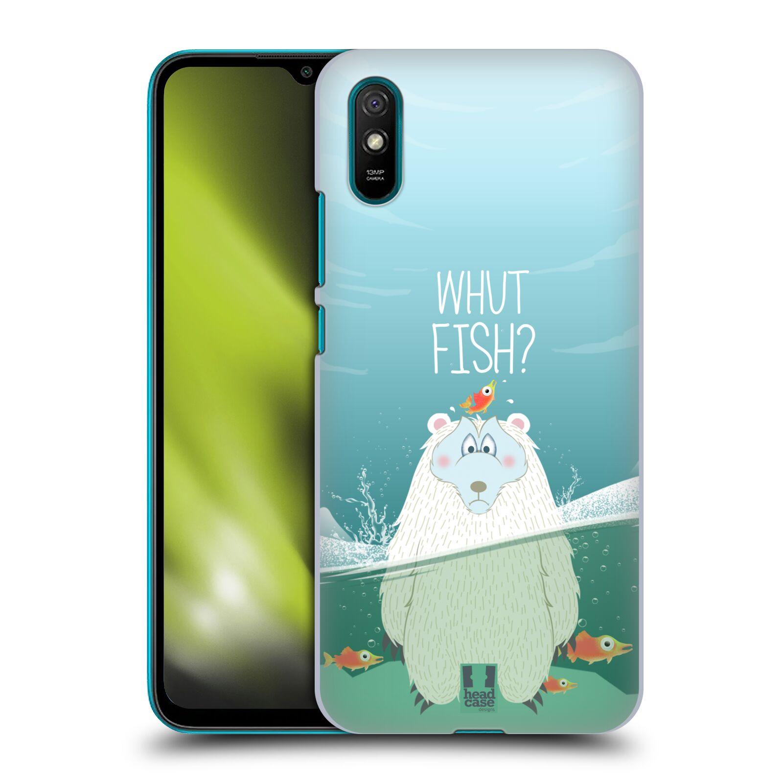 Plastové pouzdro na mobil Xiaomi Redmi 9A / Xiaomi Redmi 9AT - Head Case - Medvěd Whut Fish?