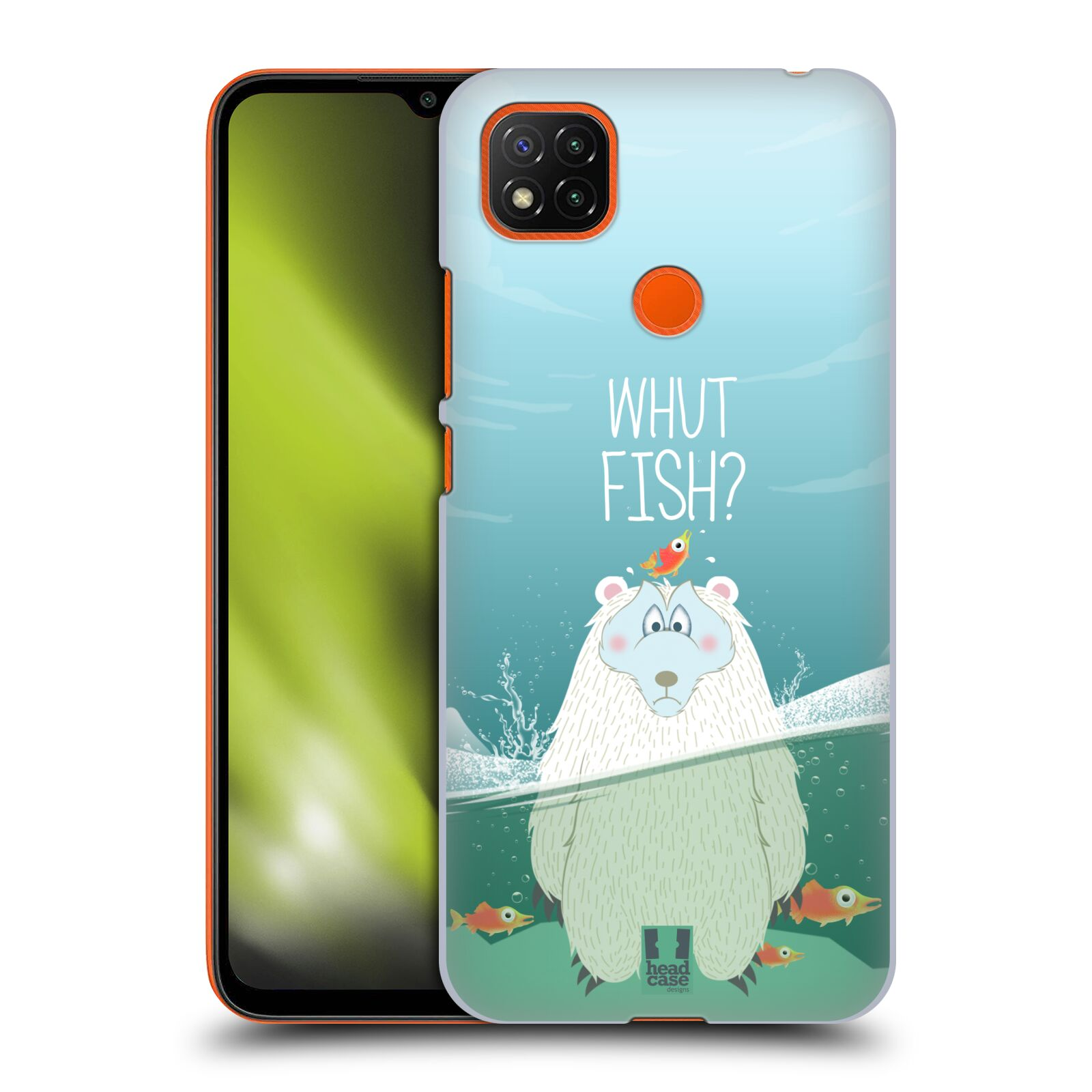 Plastové pouzdro na mobil Xiaomi Redmi 9C - Head Case - Medvěd Whut Fish?