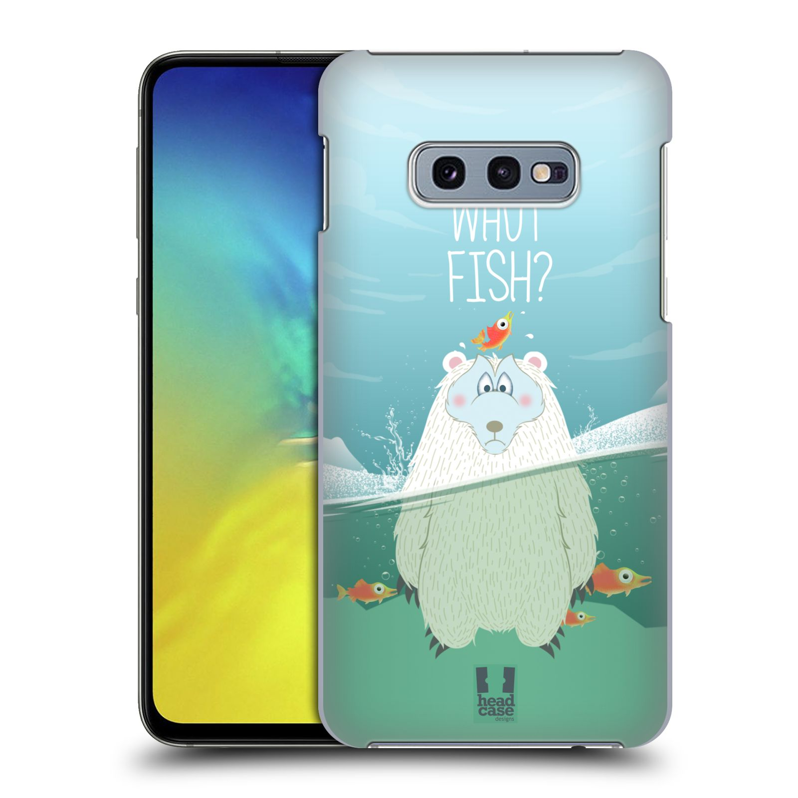 Plastové pouzdro na mobil Samsung Galaxy S10e - Head Case - Medvěd Whut Fish?