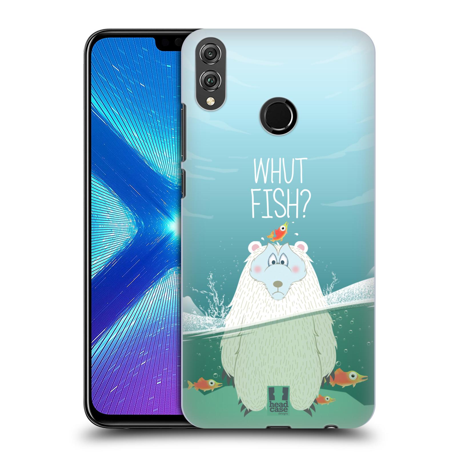 Plastové pouzdro na mobil Honor 8X - Head Case - Medvěd Whut Fish?