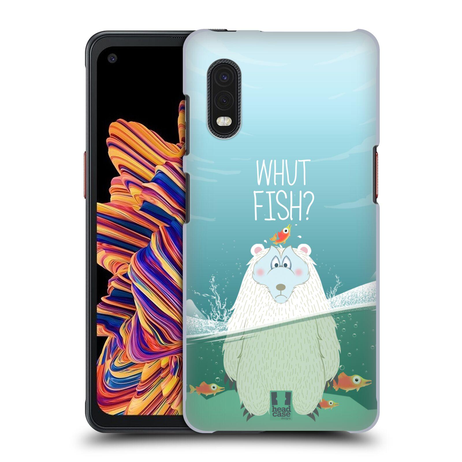 Plastové pouzdro na mobil Samsung Galaxy Xcover Pro - Head Case - Medvěd Whut Fish?