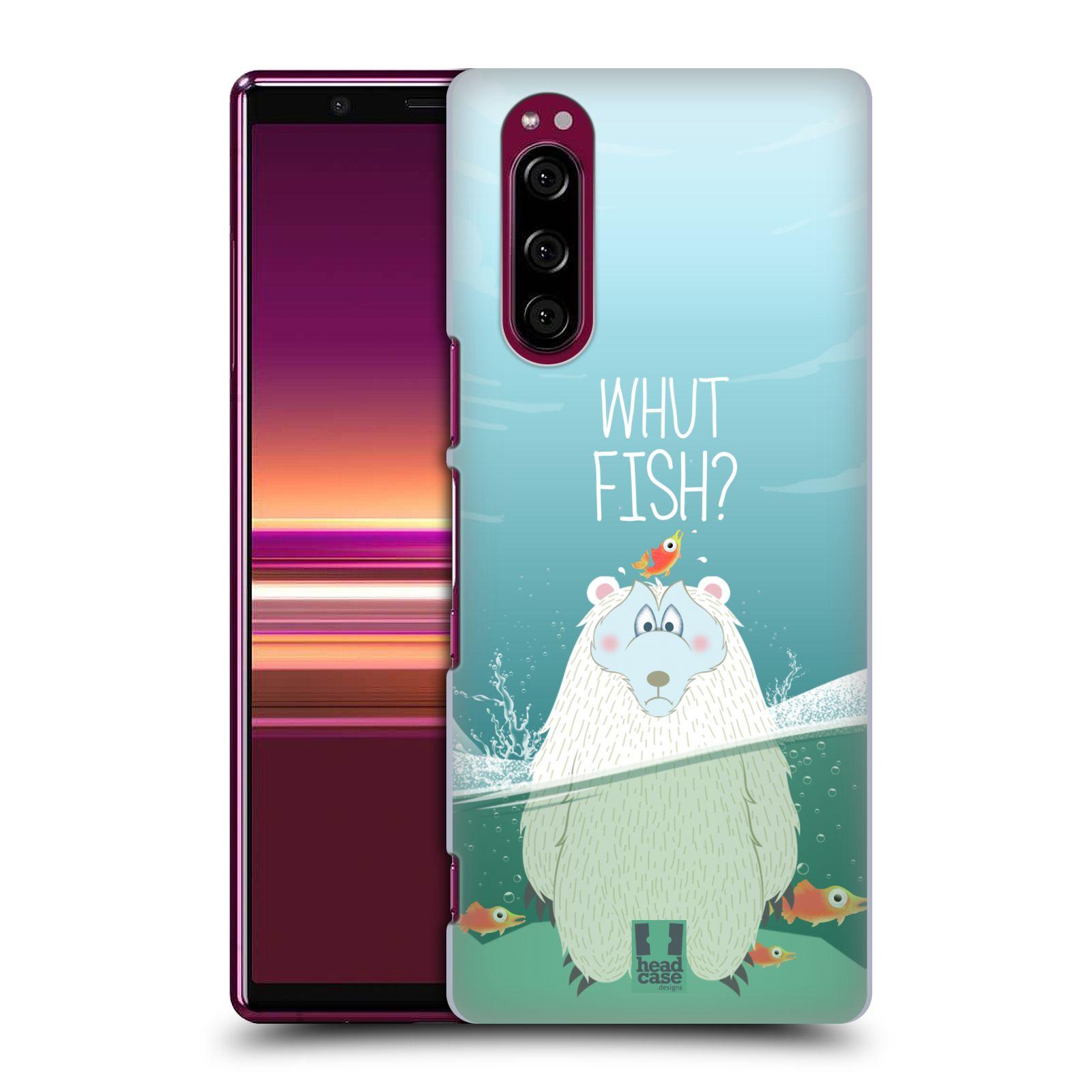 Plastové pouzdro na mobil Sony Xperia 5 - Head Case - Medvěd Whut Fish?