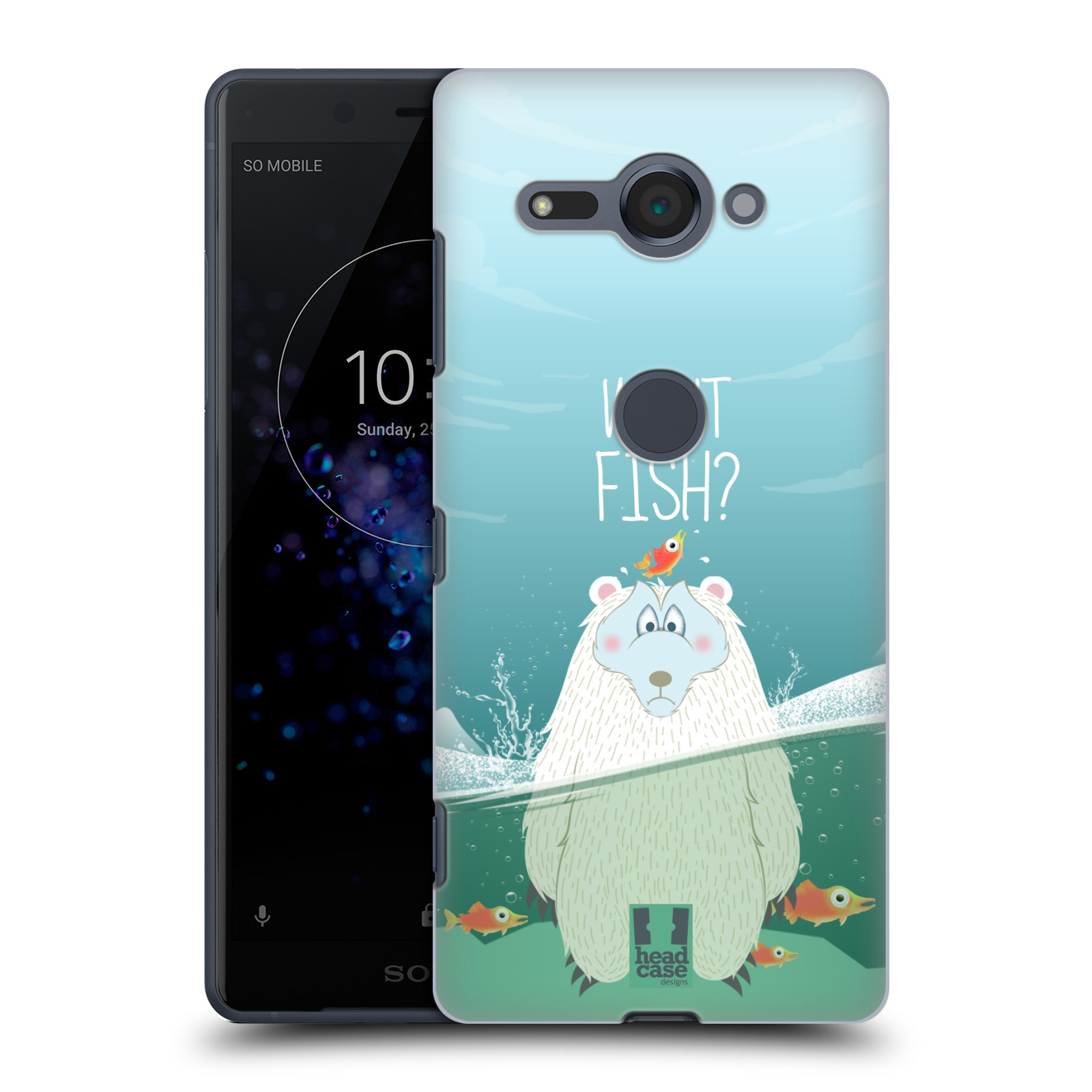 Plastové pouzdro na mobil Sony Xperia XZ2 Compact - Head Case - Medvěd Whut Fish?