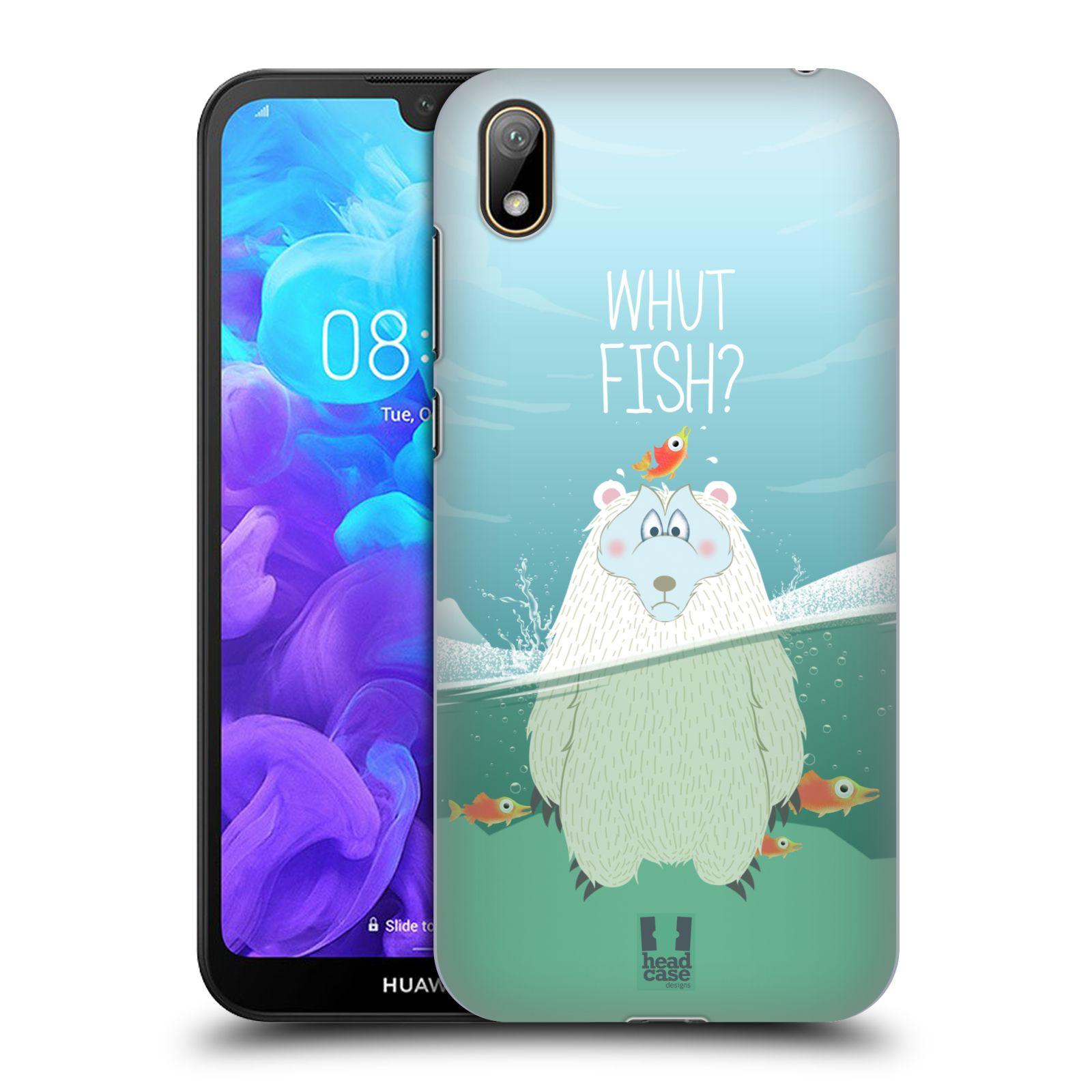 Plastové pouzdro na mobil Honor 8S - Head Case - Medvěd Whut Fish?
