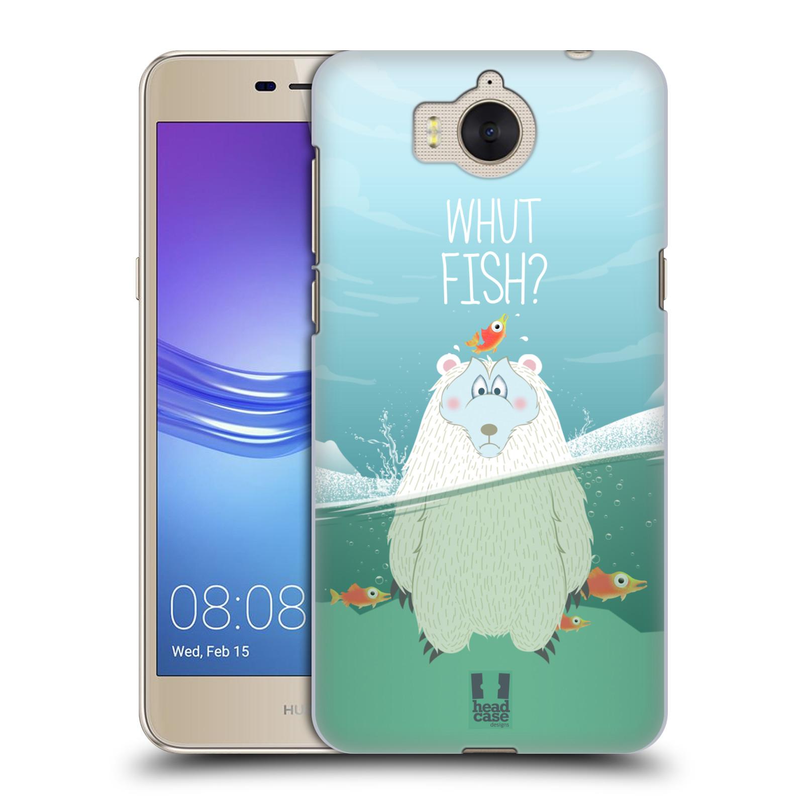 Plastové pouzdro na mobil Huawei Y6 2017 - Head Case - Medvěd Whut Fish?