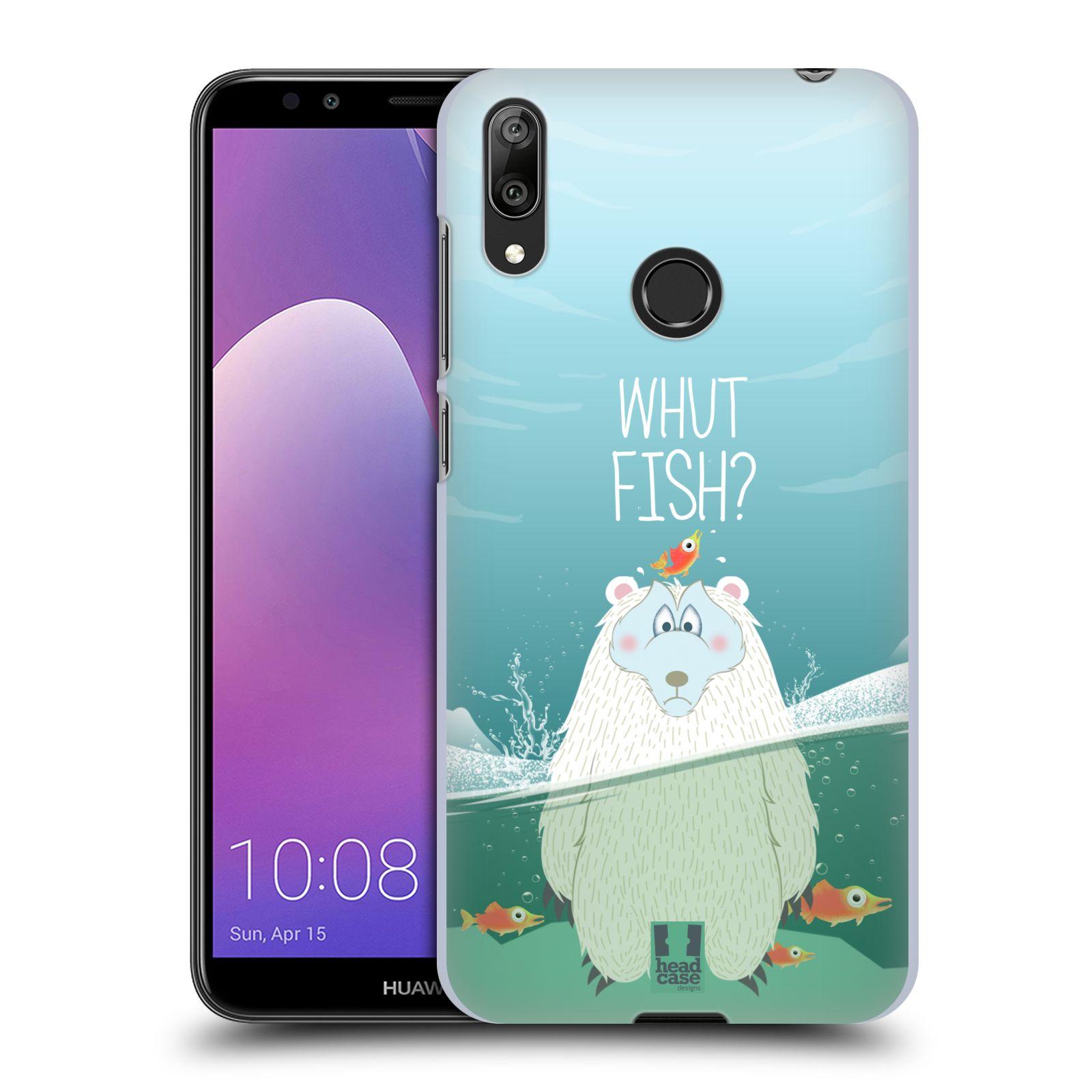 Plastové pouzdro na mobil Huawei Y7 (2019) - Head Case - Medvěd Whut Fish?