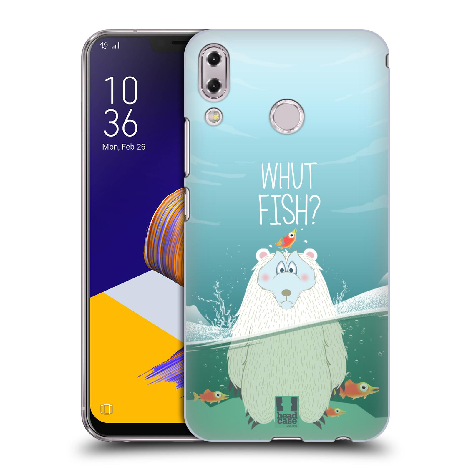 Plastové pouzdro na mobil Asus Zenfone 5z ZS620KL - Head Case - Medvěd Whut Fish?