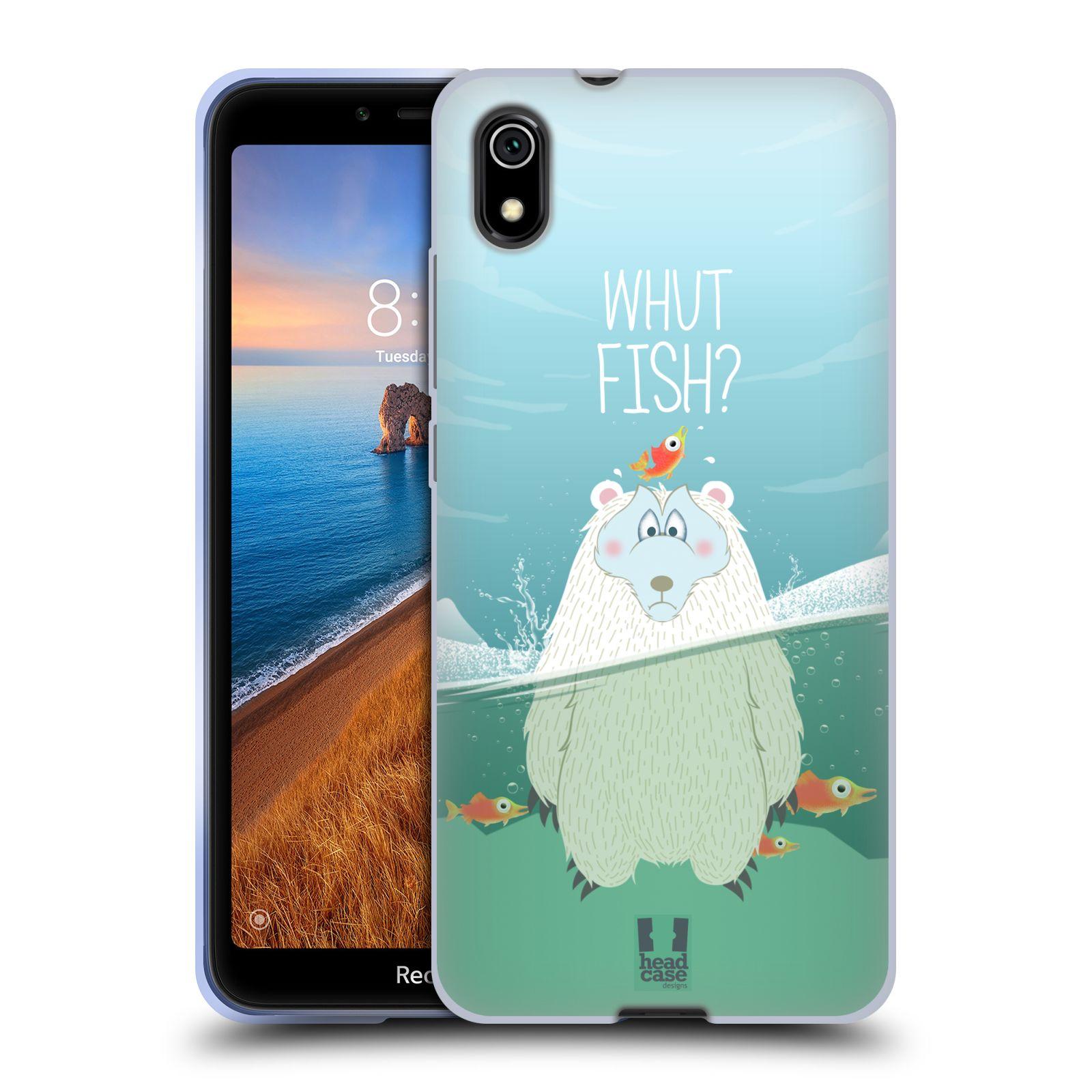 Silikonové pouzdro na mobil Redmi 7A - Head Case - Medvěd Whut Fish?