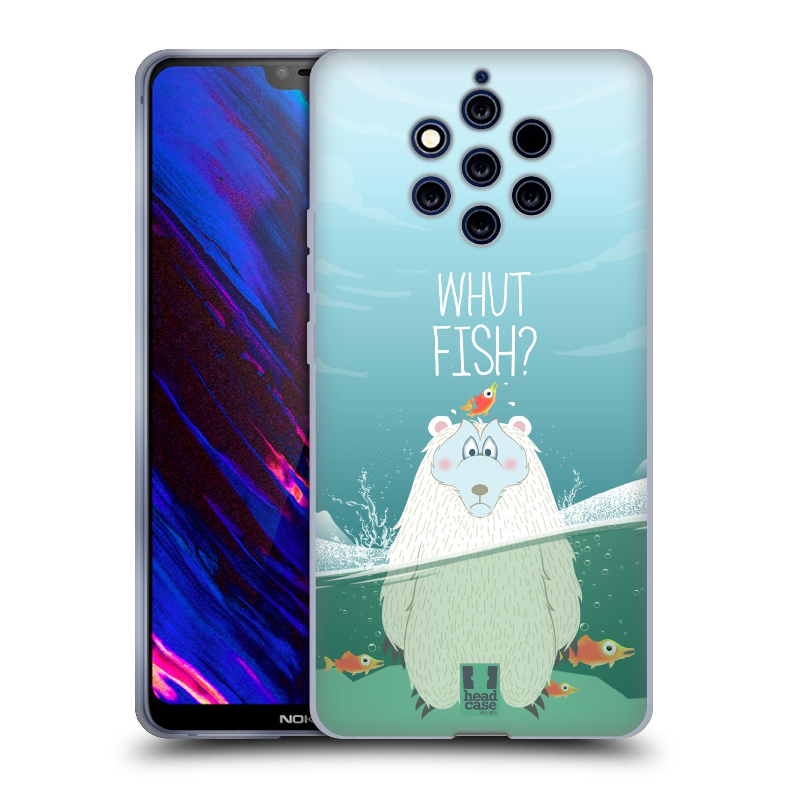 Silikonové pouzdro na mobil Nokia 9 PureView - Head Case - Medvěd Whut Fish?