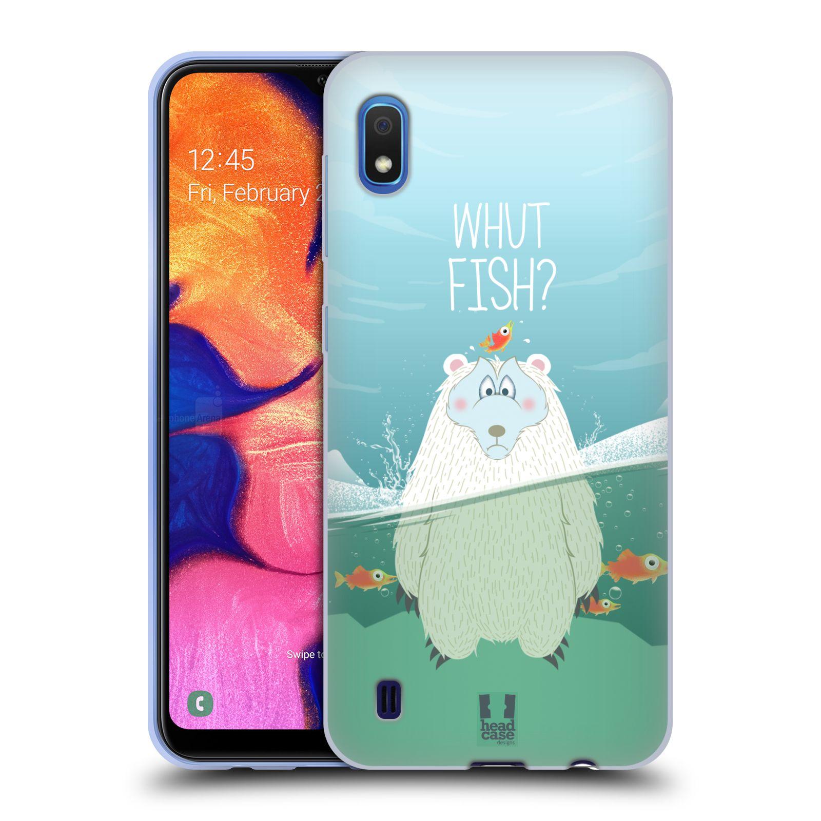 Silikonové pouzdro na mobil Samsung Galaxy A10 - Head Case - Medvěd Whut Fish?