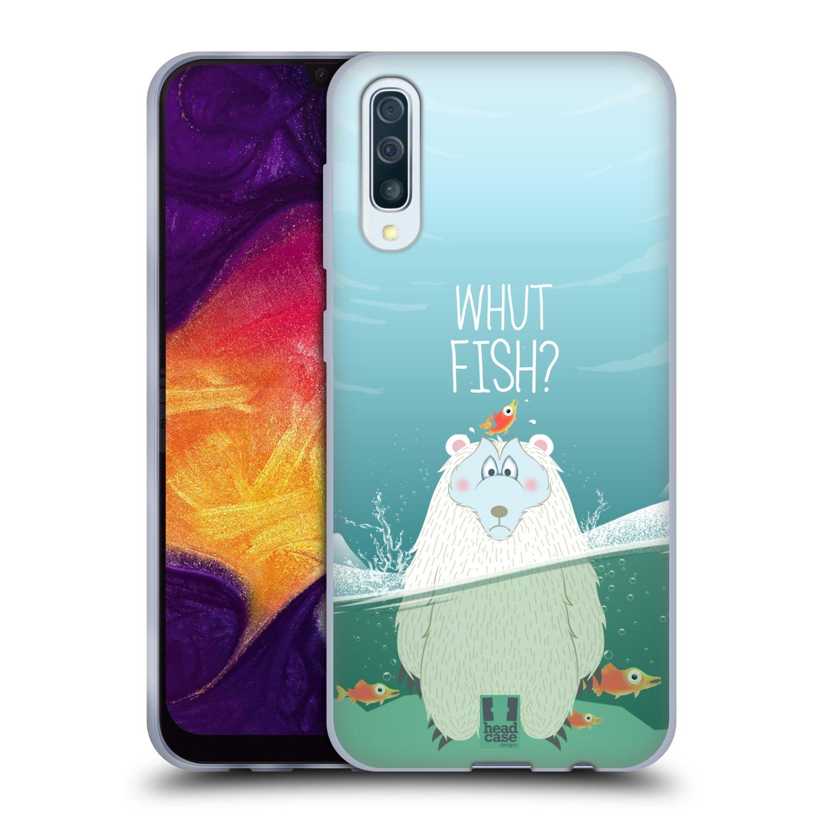 Silikonové pouzdro na mobil Samsung Galaxy A50 / A30s - Head Case - Medvěd Whut Fish?