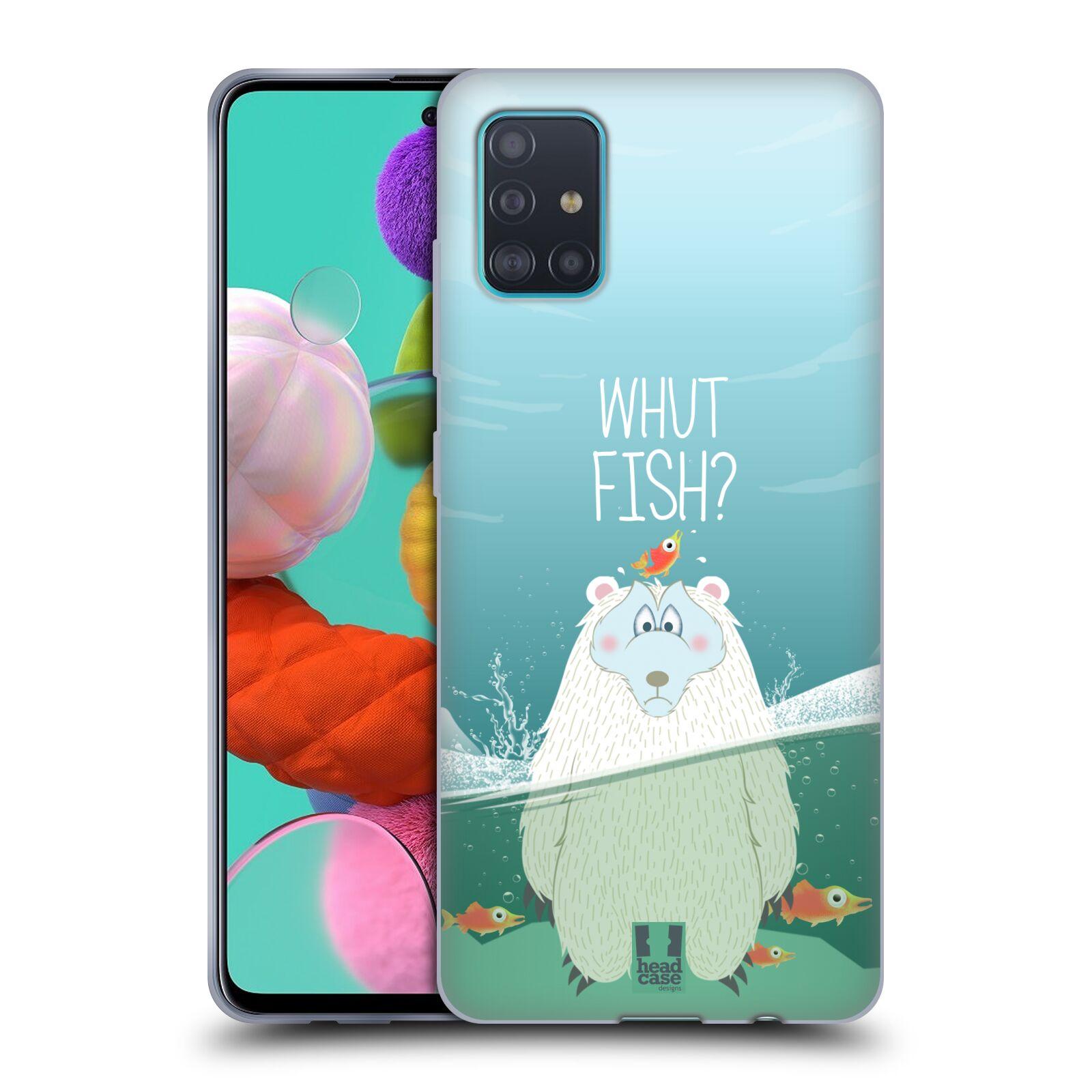 Silikonové pouzdro na mobil Samsung Galaxy A51 - Head Case - Medvěd Whut Fish?