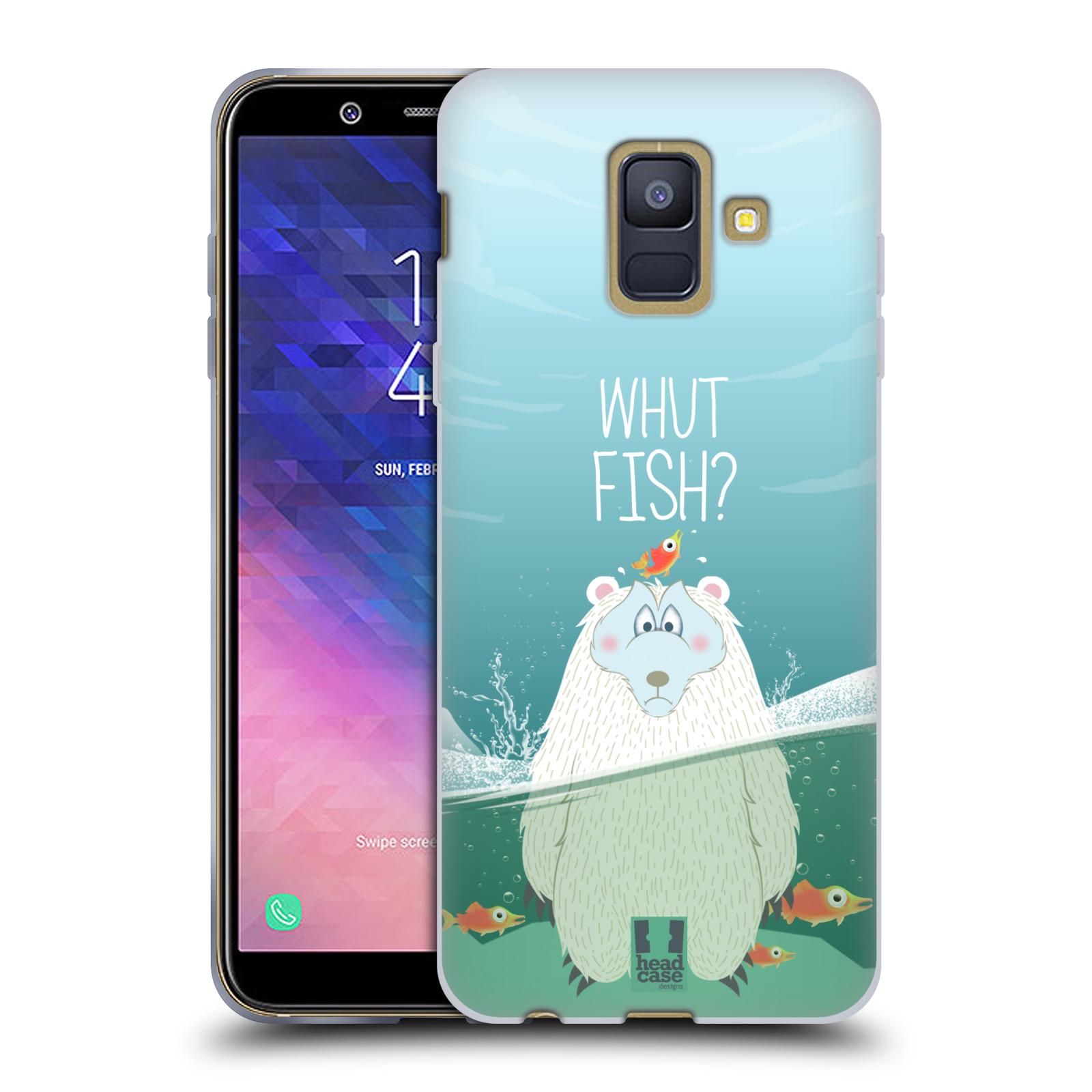 Silikonové pouzdro na mobil Samsung Galaxy A6 (2018) - Head Case - Medvěd Whut Fish?