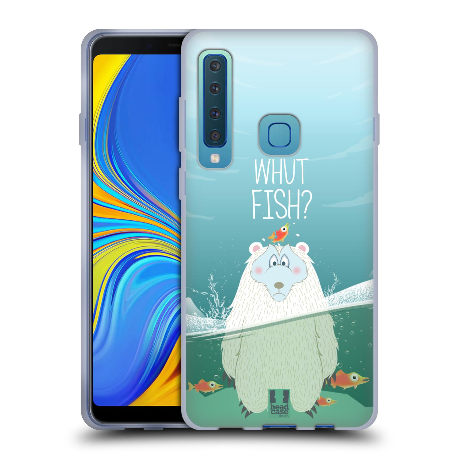 Silikonové pouzdro na mobil Samsung Galaxy A9 (2018) - Head Case - Medvěd Whut Fish?