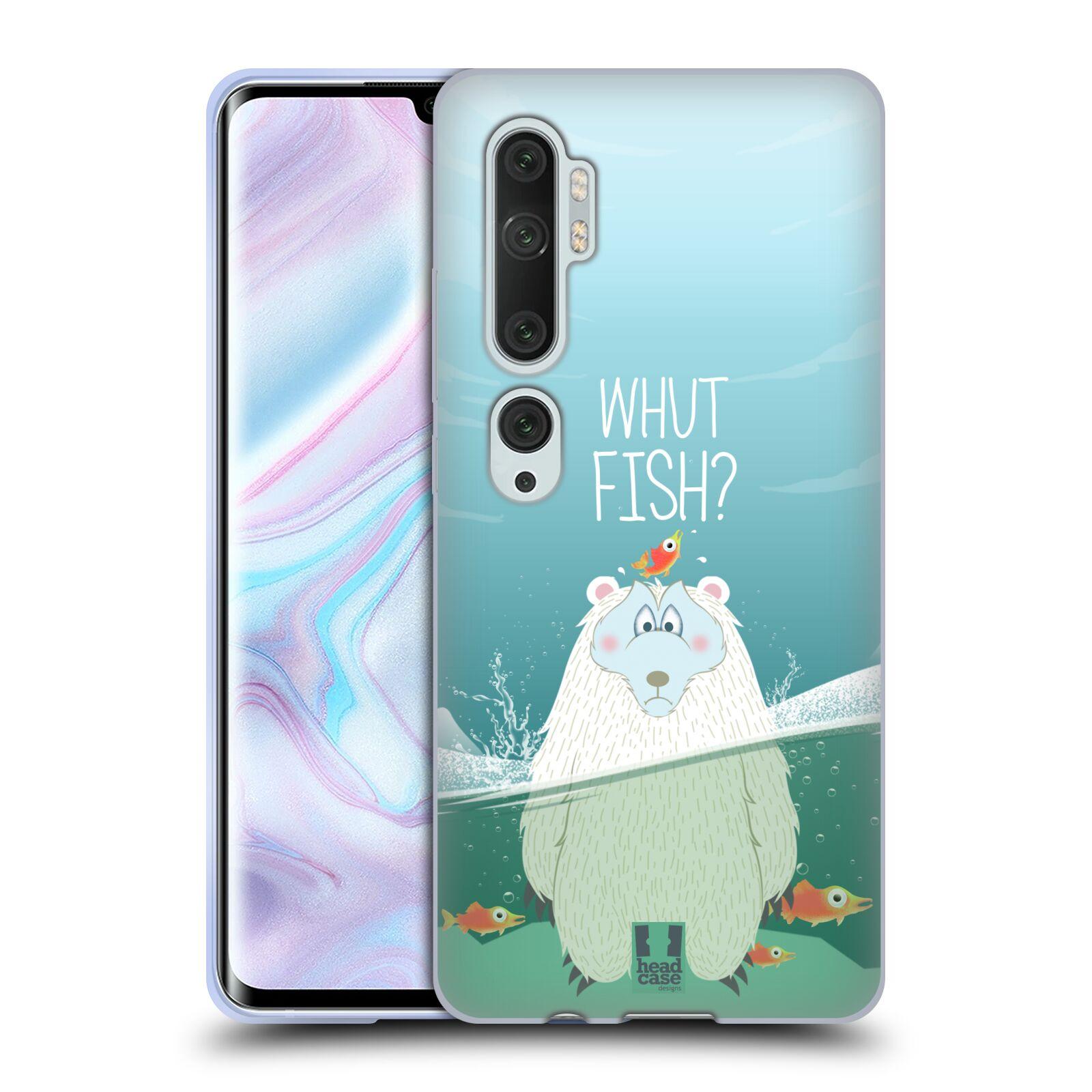 Silikonové pouzdro na mobil Xiaomi Mi Note 10 / 10 Pro - Head Case - Medvěd Whut Fish?
