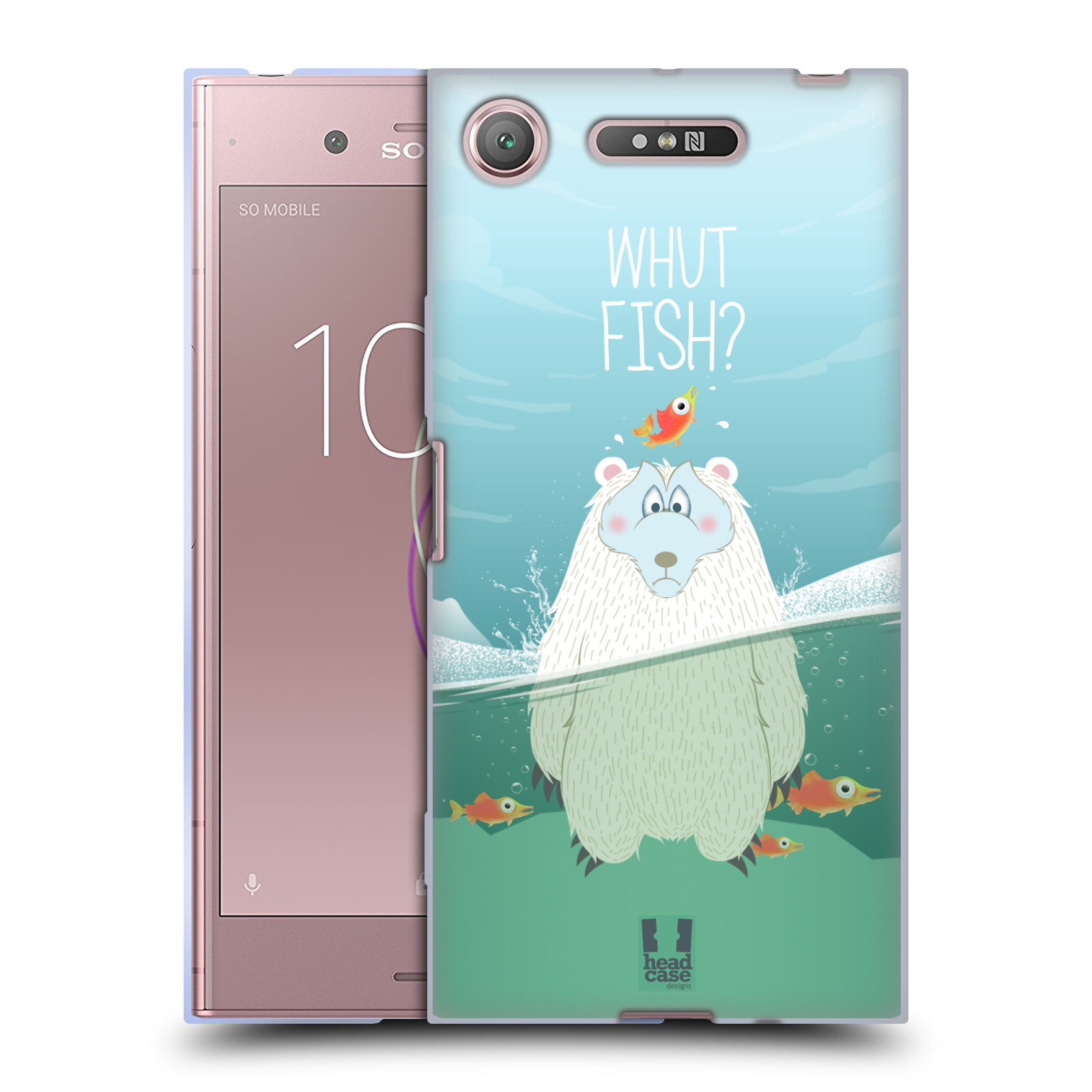 Silikonové pouzdro na mobil Sony Xperia XZ1 - Head Case - Medvěd Whut Fish?