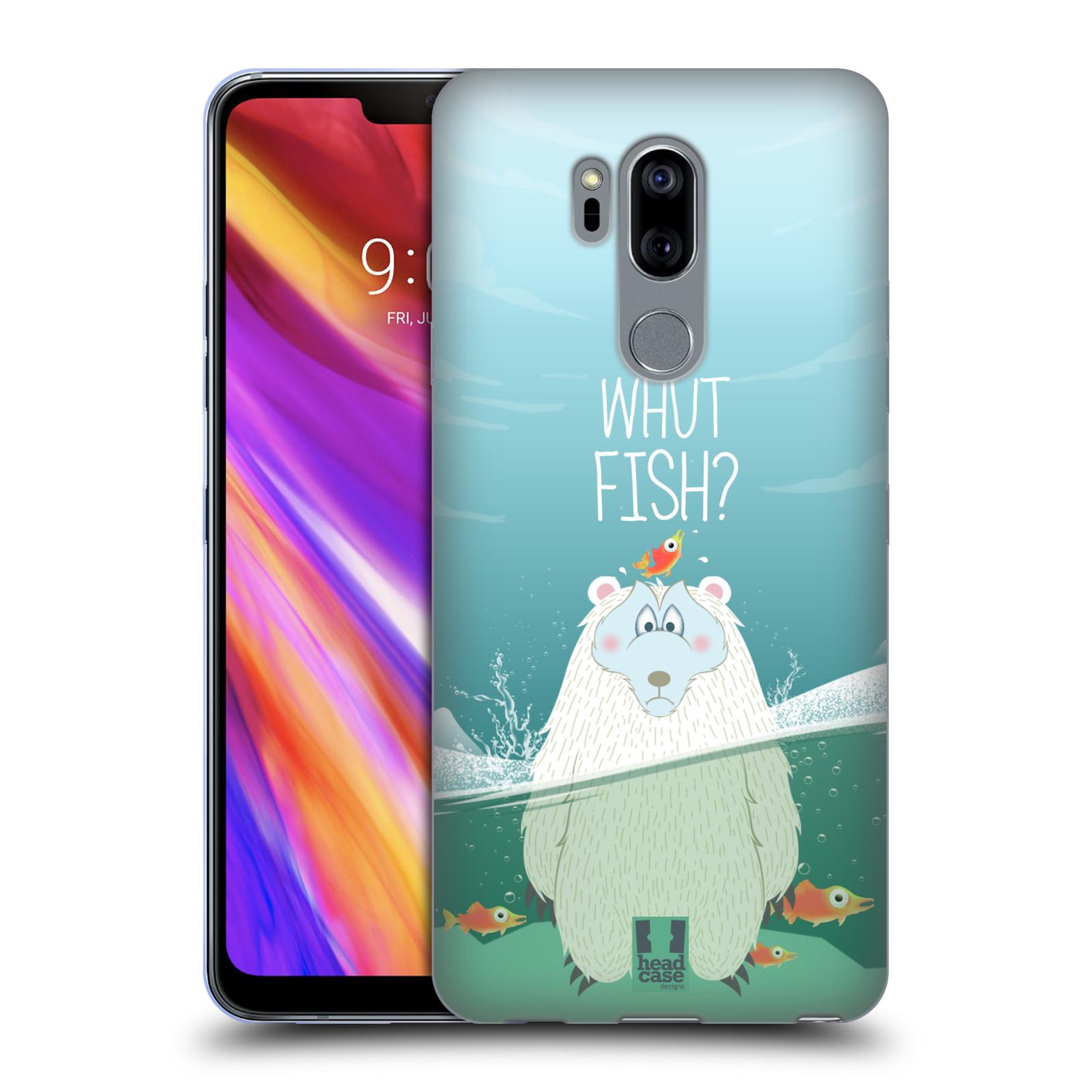 Silikonové pouzdro na mobil LG G7 ThinQ - Head Case - Medvěd Whut Fish?