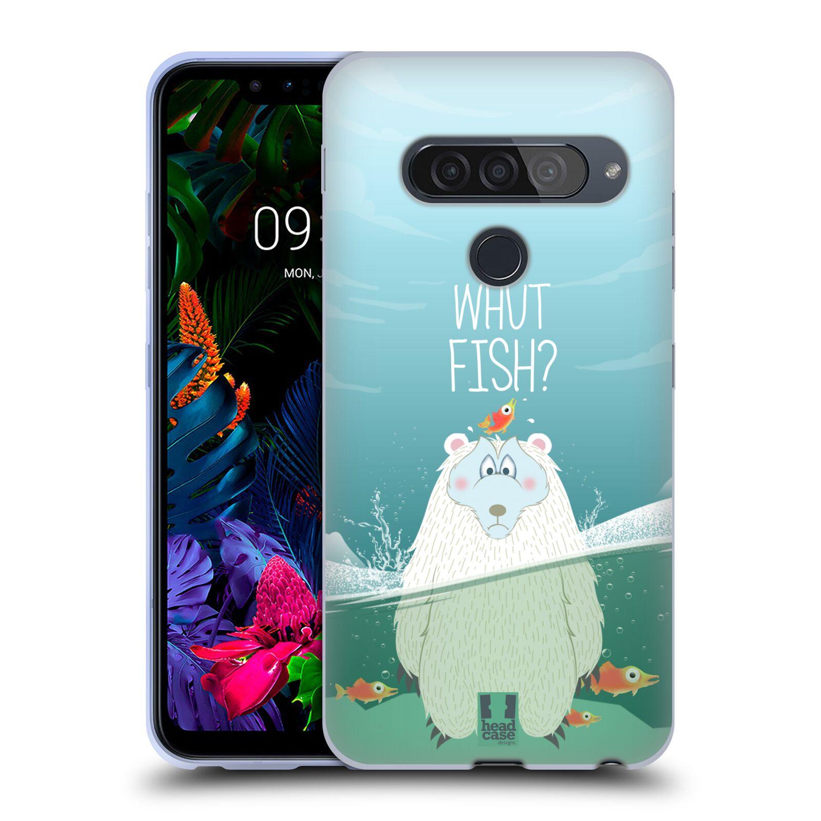 Silikonové pouzdro na mobil LG G8s ThinQ - Head Case - Medvěd Whut Fish?