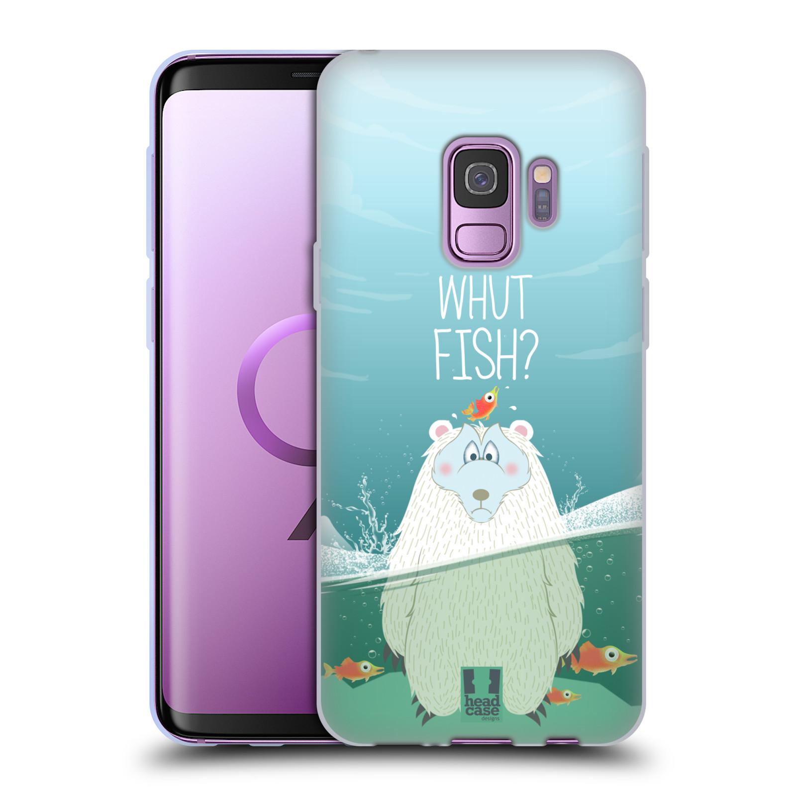 Silikonové pouzdro na mobil Samsung Galaxy S9 - Head Case - Medvěd Whut Fish?