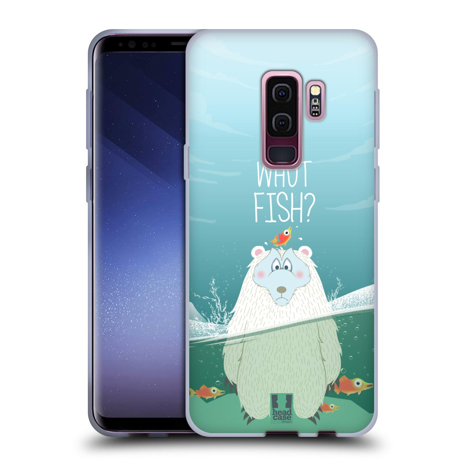 Silikonové pouzdro na mobil Samsung Galaxy S9 Plus - Head Case - Medvěd Whut Fish?