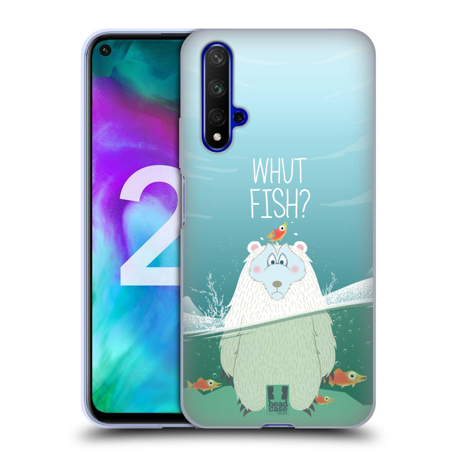 Silikonové pouzdro na mobil Honor 20 - Head Case - Medvěd Whut Fish?