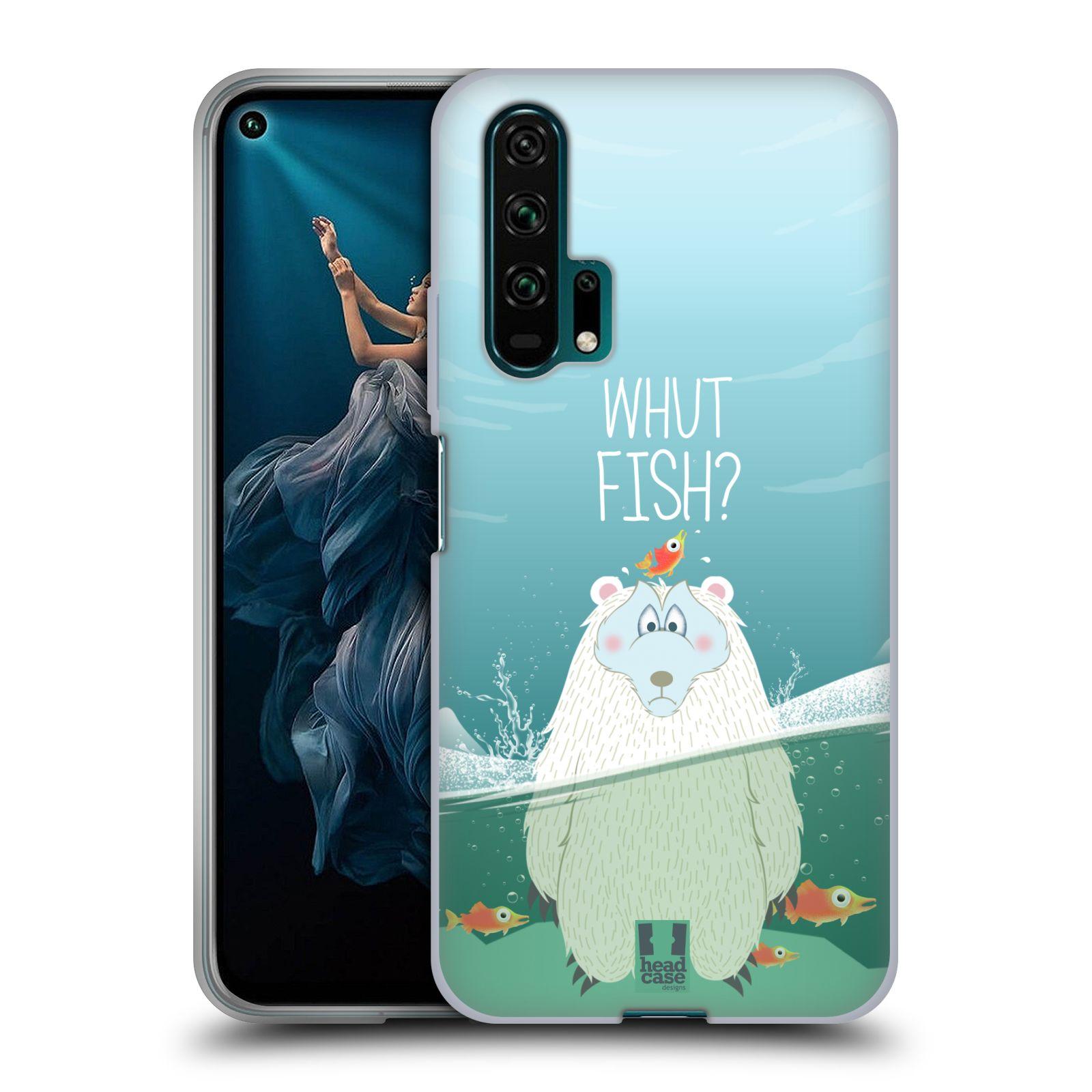 Silikonové pouzdro na mobil Honor 20 Pro - Head Case - Medvěd Whut Fish?