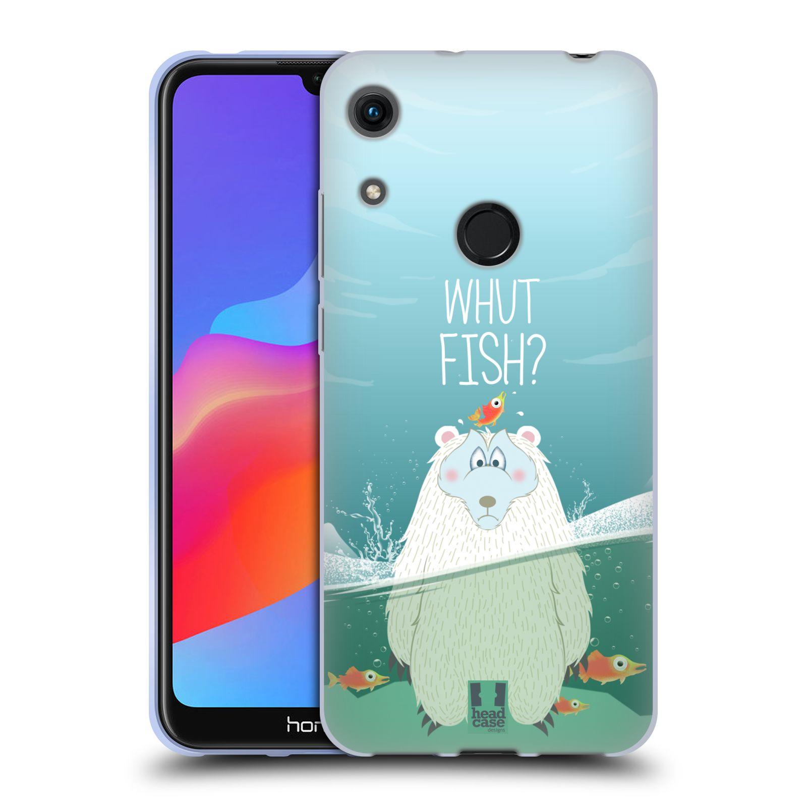 Silikonové pouzdro na mobil Honor 8A - Head Case - Medvěd Whut Fish?