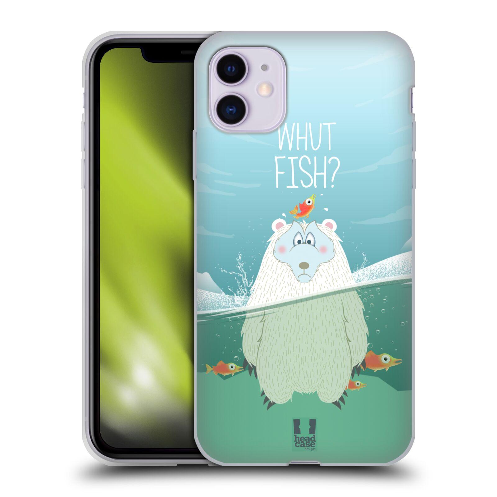 Silikonové pouzdro na mobil Apple iPhone 11 - Head Case - Medvěd Whut Fish?