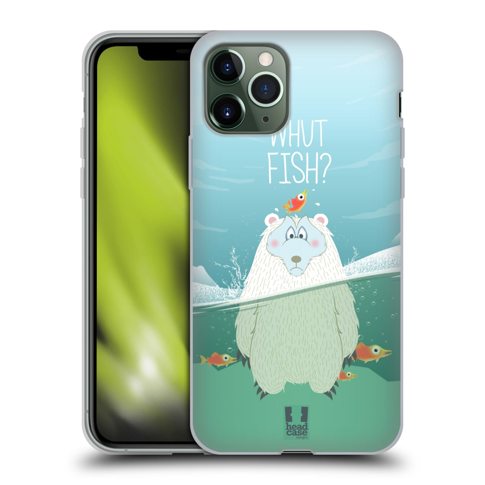 gucci iphone x case nordstrom , Silikonové pouzdro na mobil Apple iPhone 11 Pro - Head Case - Medvěd Whut Fish?