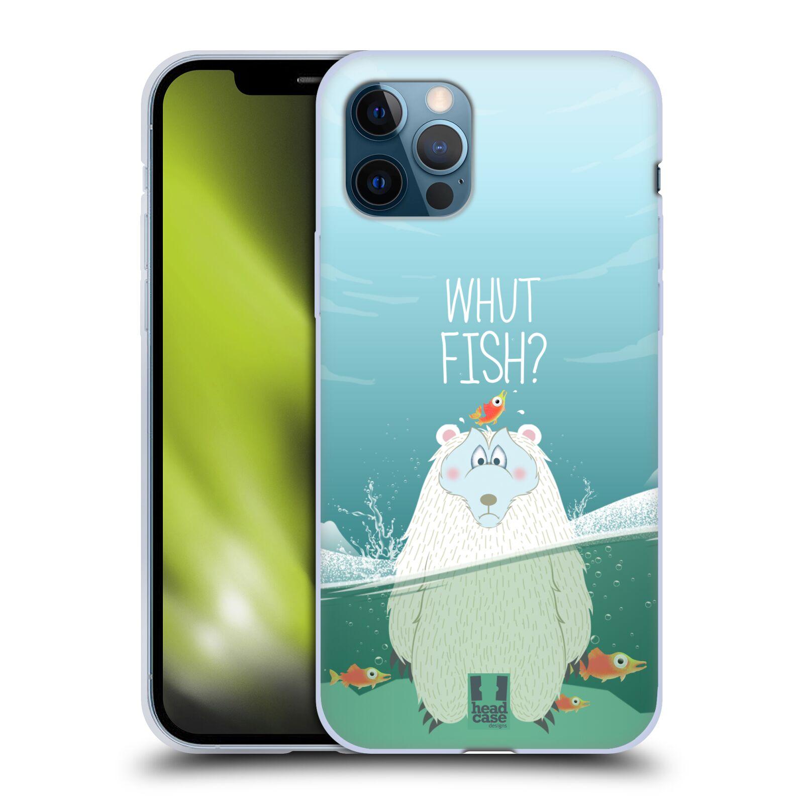 Silikonové pouzdro na mobil Apple iPhone 12 / 12 Pro - Head Case - Medvěd Whut Fish?