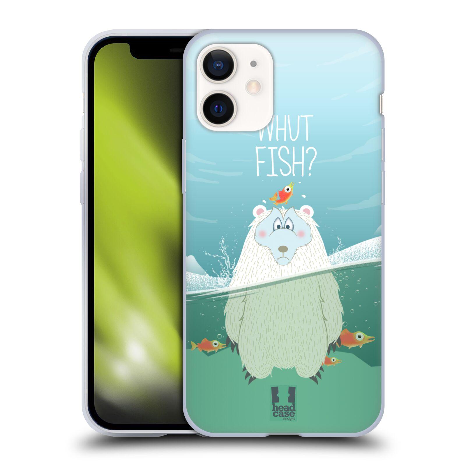 Silikonové pouzdro na mobil Apple iPhone 12 Mini - Head Case - Medvěd Whut Fish?