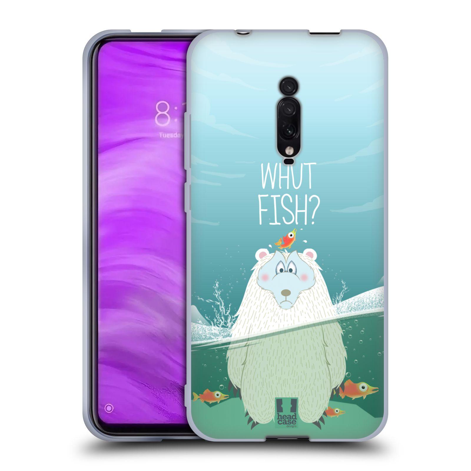 Silikonové pouzdro na mobil Xiaomi Mi 9T - Head Case - Medvěd Whut Fish?