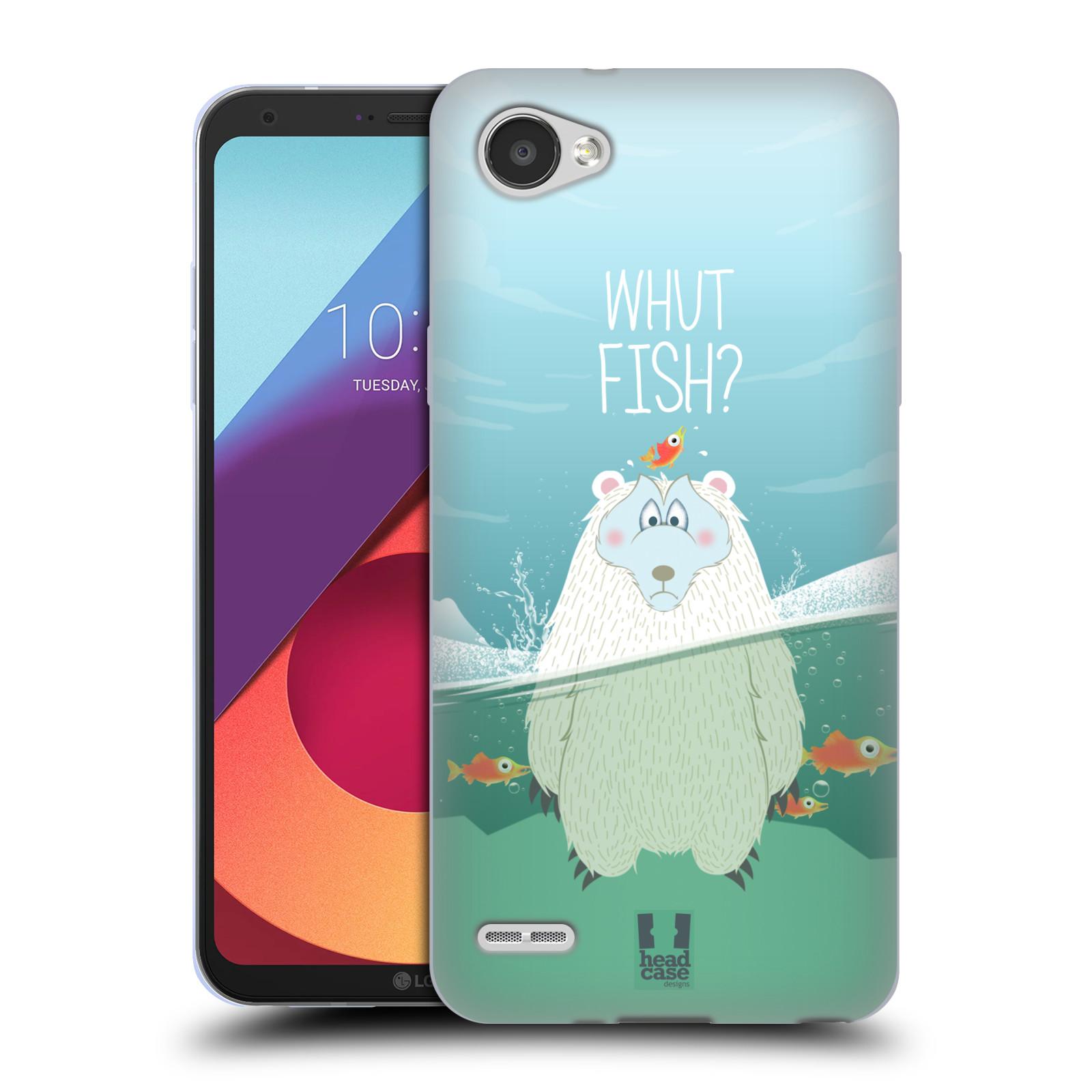 Silikonové pouzdro na mobil LG Q6 - Head Case - Medvěd Whut Fish?