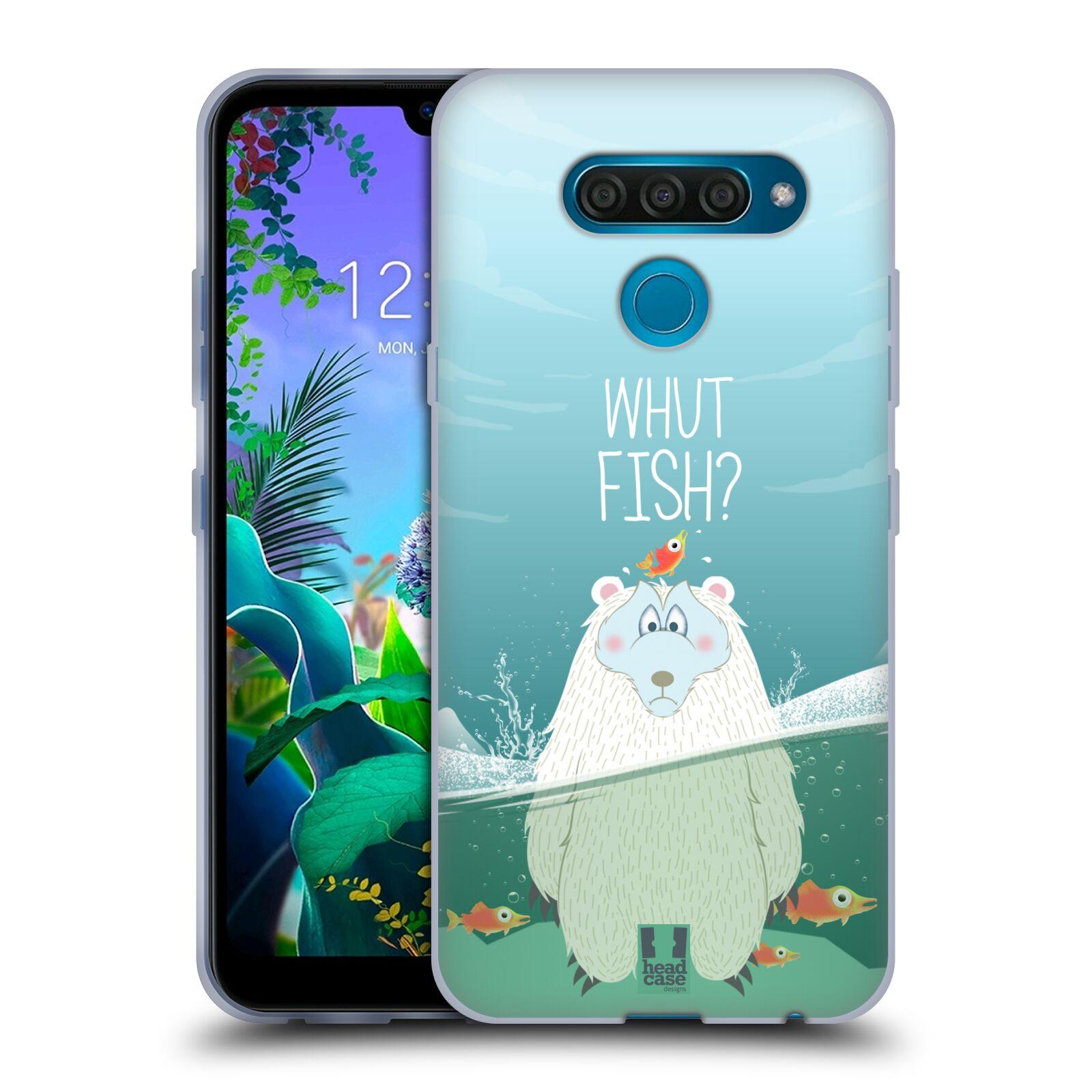 Silikonové pouzdro na mobil LG Q60 - Head Case - Medvěd Whut Fish?