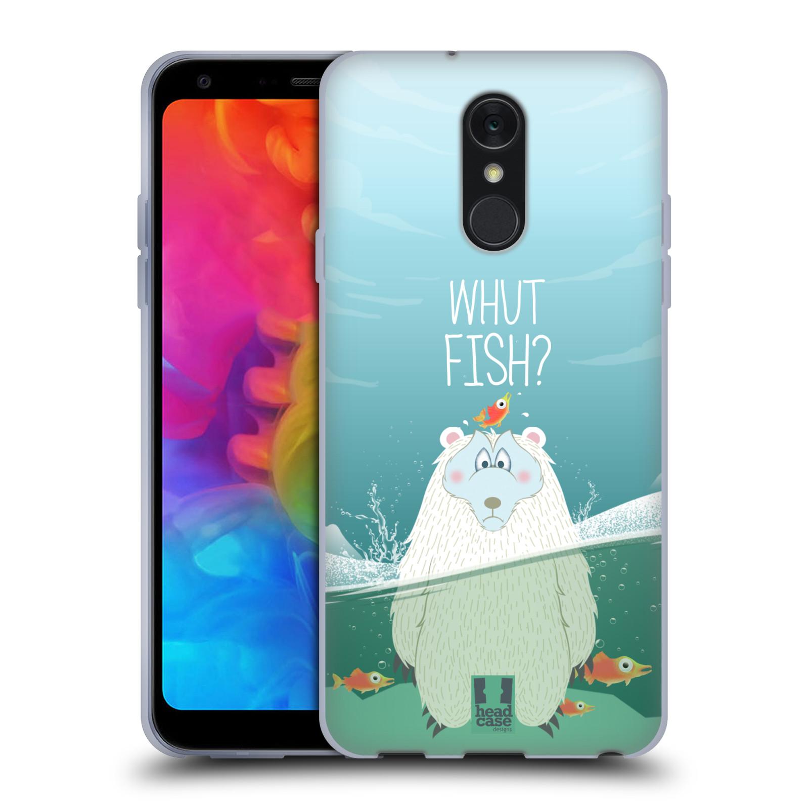 Silikonové pouzdro na mobil LG Q7 - Head Case - Medvěd Whut Fish?