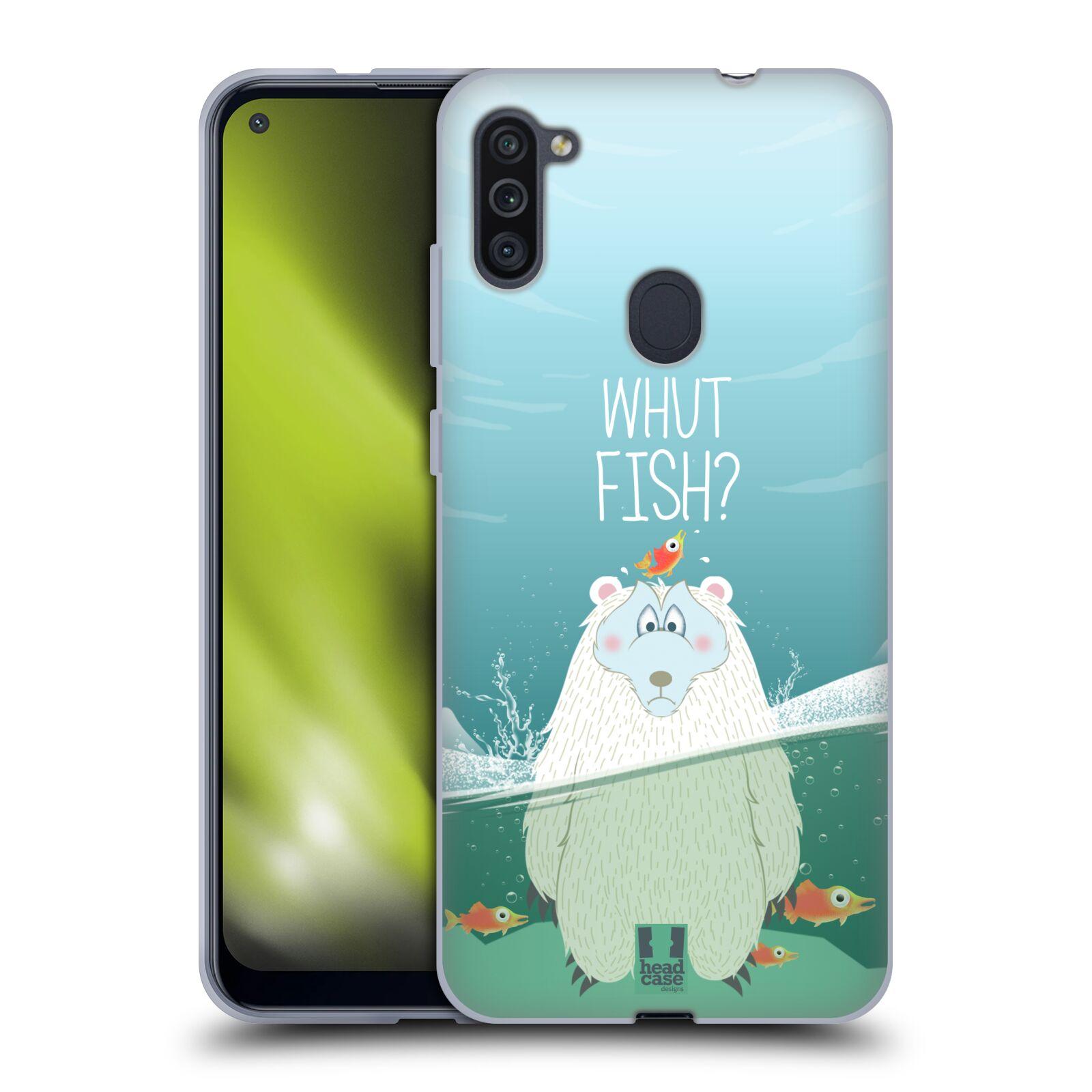 Silikonové pouzdro na mobil Samsung Galaxy M11 - Head Case - Medvěd Whut Fish?