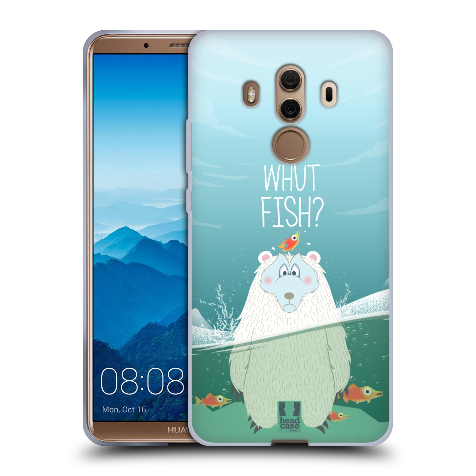 Silikonové pouzdro na mobil Huawei Mate 10 Pro - Head Case - Medvěd Whut Fish?
